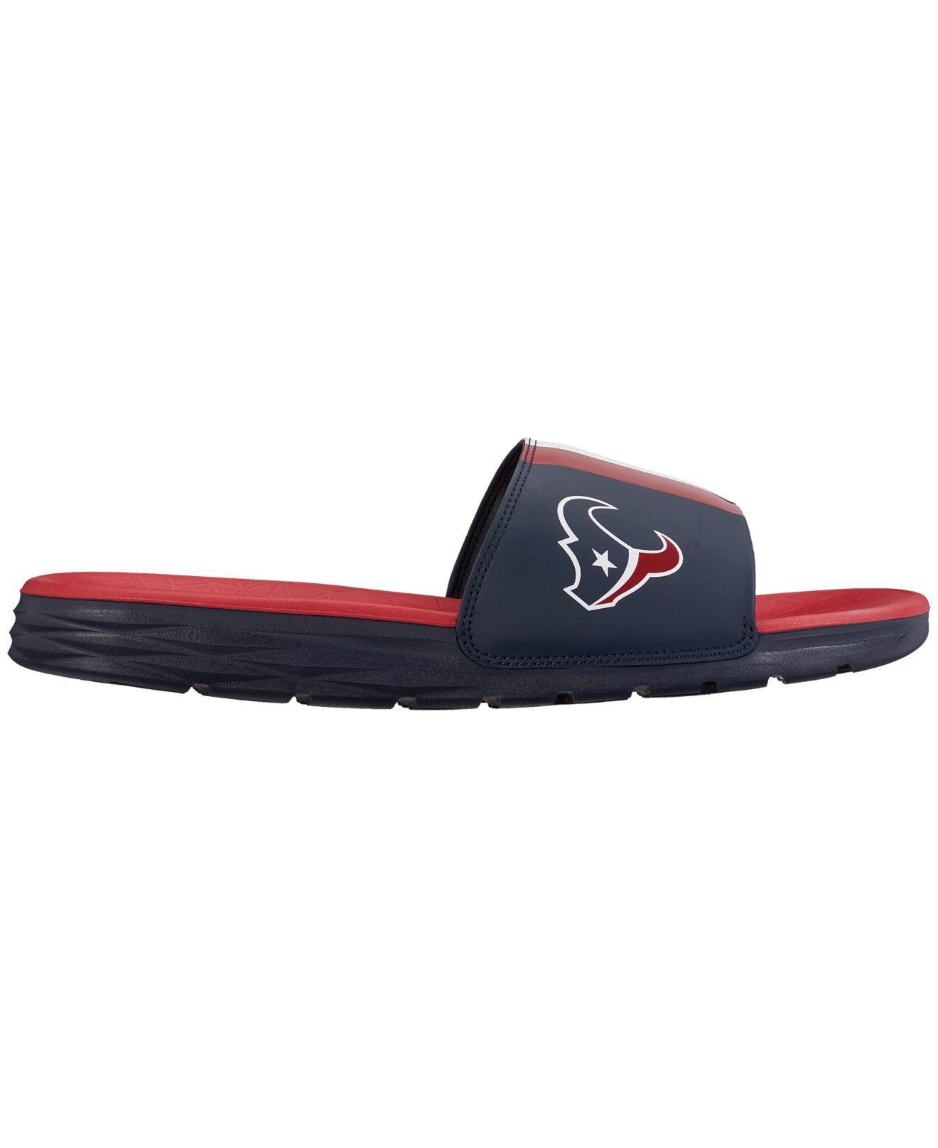 b55732341557 Lyst - Nike Houston Texans Benassi Solarsoft Slides in Blue for Men