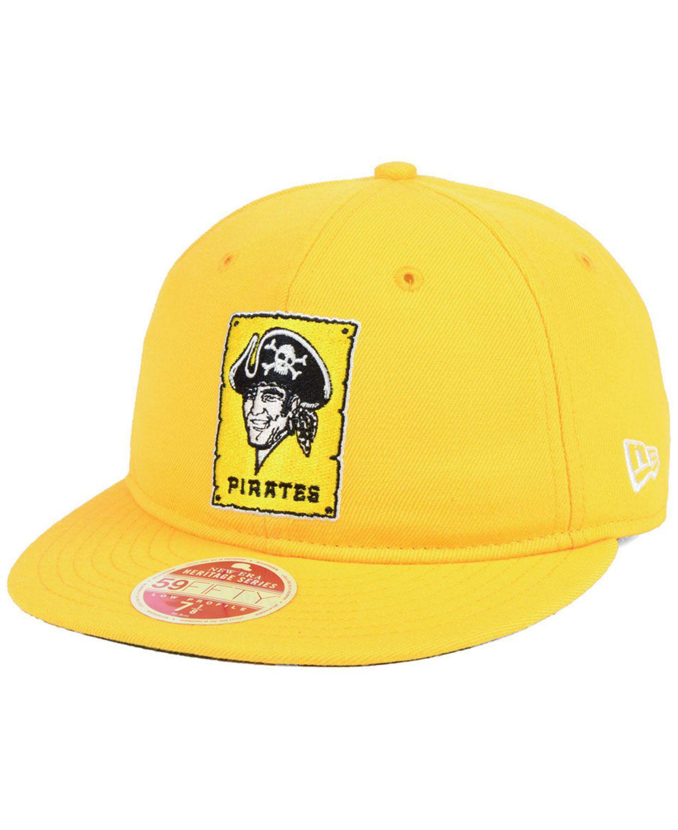 promo code c1d1a 54d2b KTZ. Men s Metallic Pittsburgh Pirates Heritage Retro Classic 59fifty  Fitted Cap