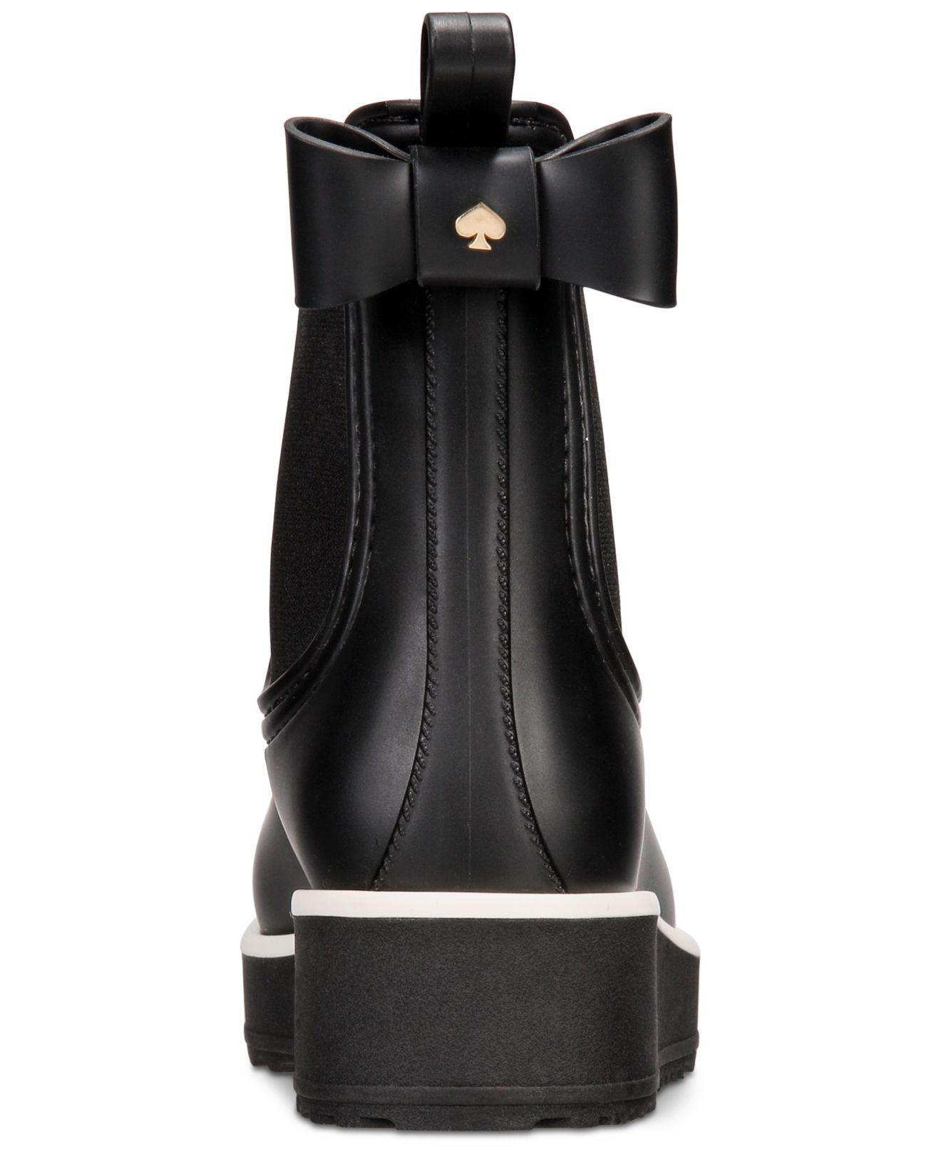 Kate Spade Rubber Malcom Rain Shoe In Black - Lyst-4517
