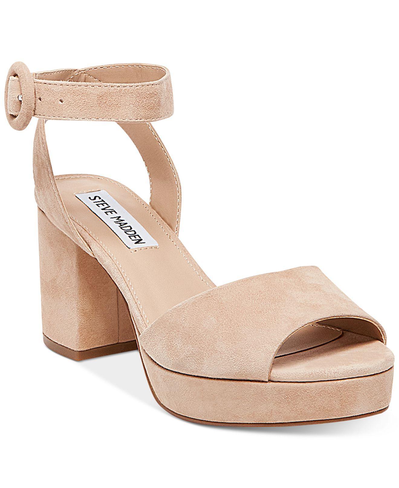 400ba2f2910 Lyst - Steve Madden Women s Tickle Two-piece Platform Sandals