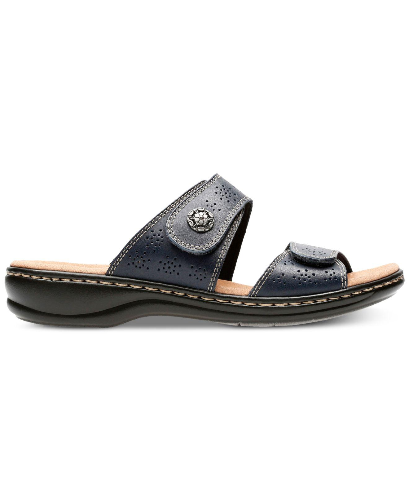 8ee0558513f3 Lyst - Clarks Leisa Lacole Flat Sandals in Blue