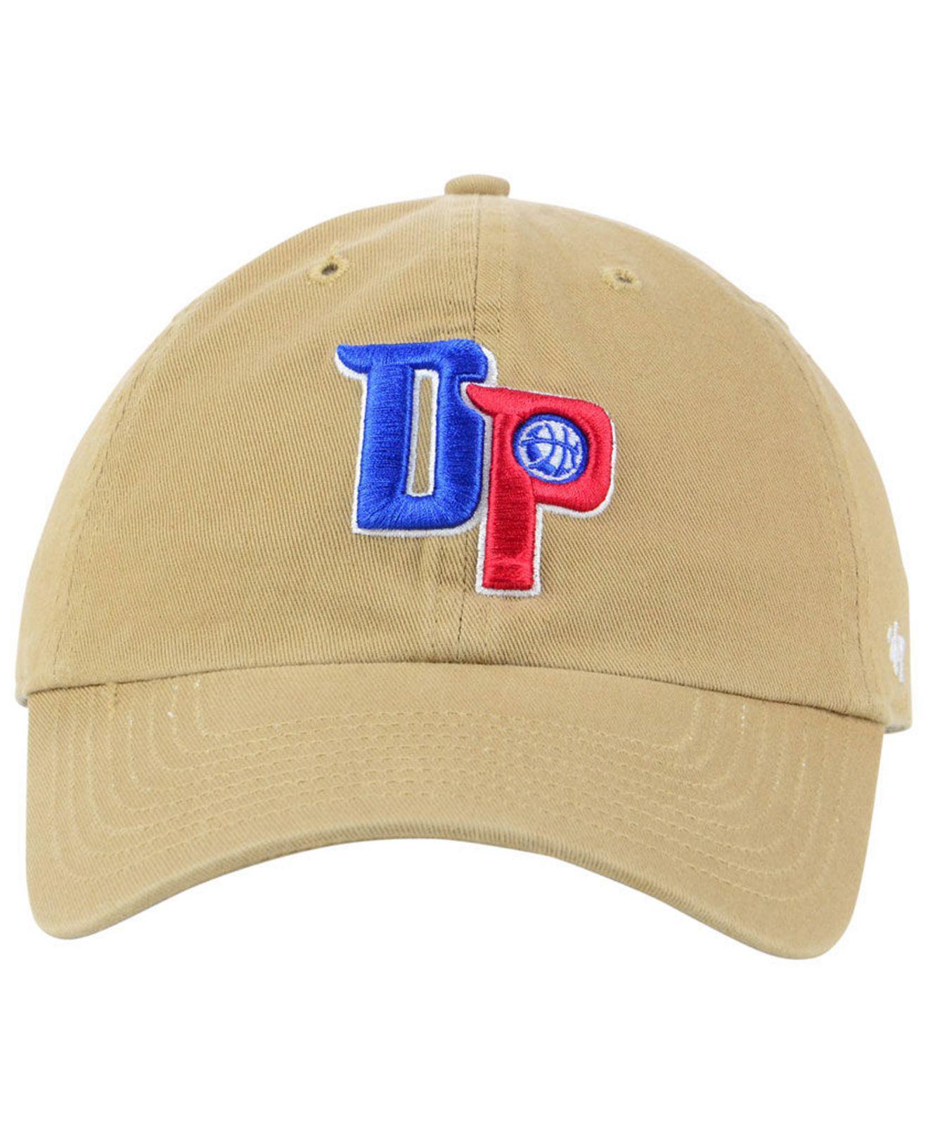 0de7bff9ca5 ... shop lyst 47 brand detroit pistons mash up clean up cap for men 11067  4df85
