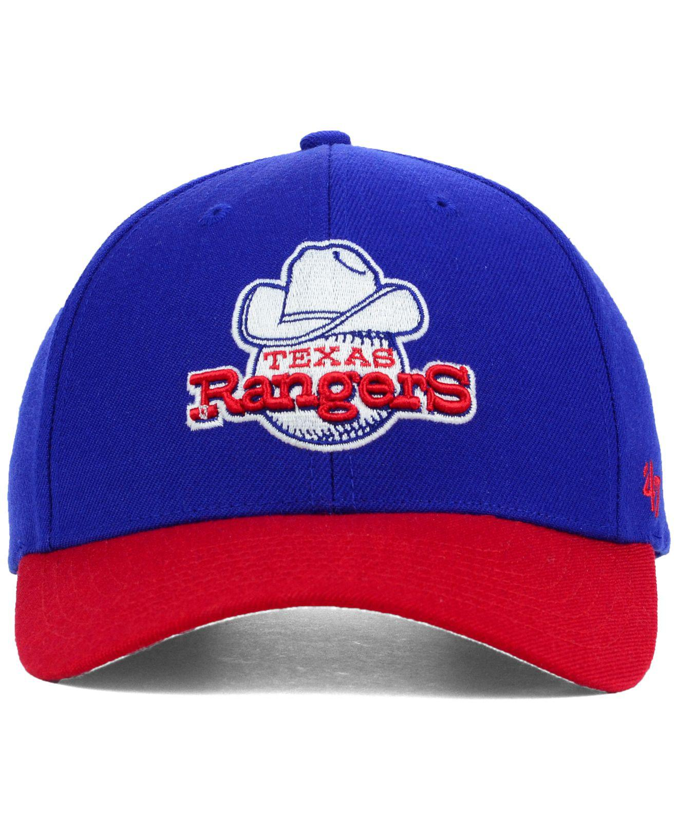 reputable site d056e aa748 Lyst - 47 Brand Texas Rangers Mvp Curved Cap in Red for Men