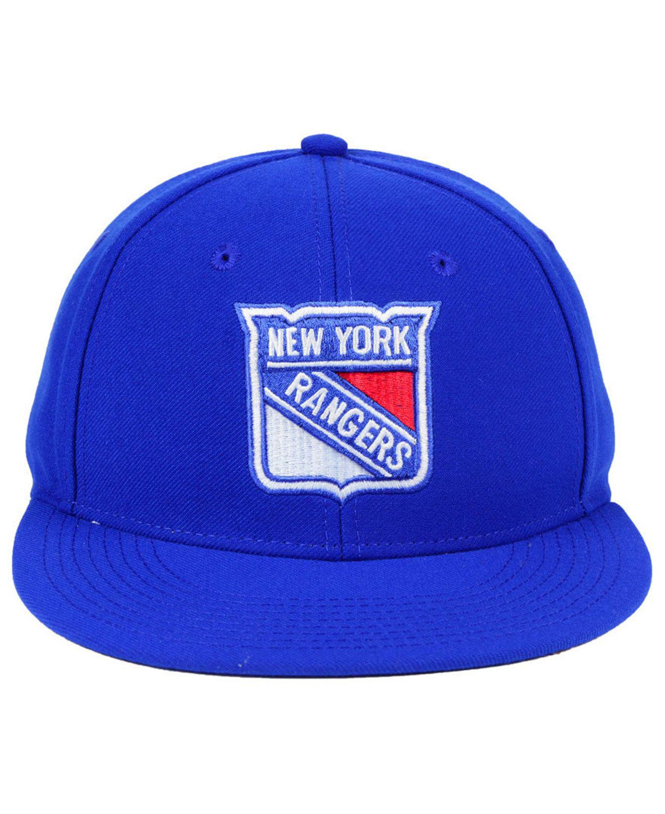 the latest 5fef3 93e19 ... caps national hockey league fan 33be7 08793  coupon lyst adidas new  york rangers basic fitted cap in blue for men 42e37 b16cf