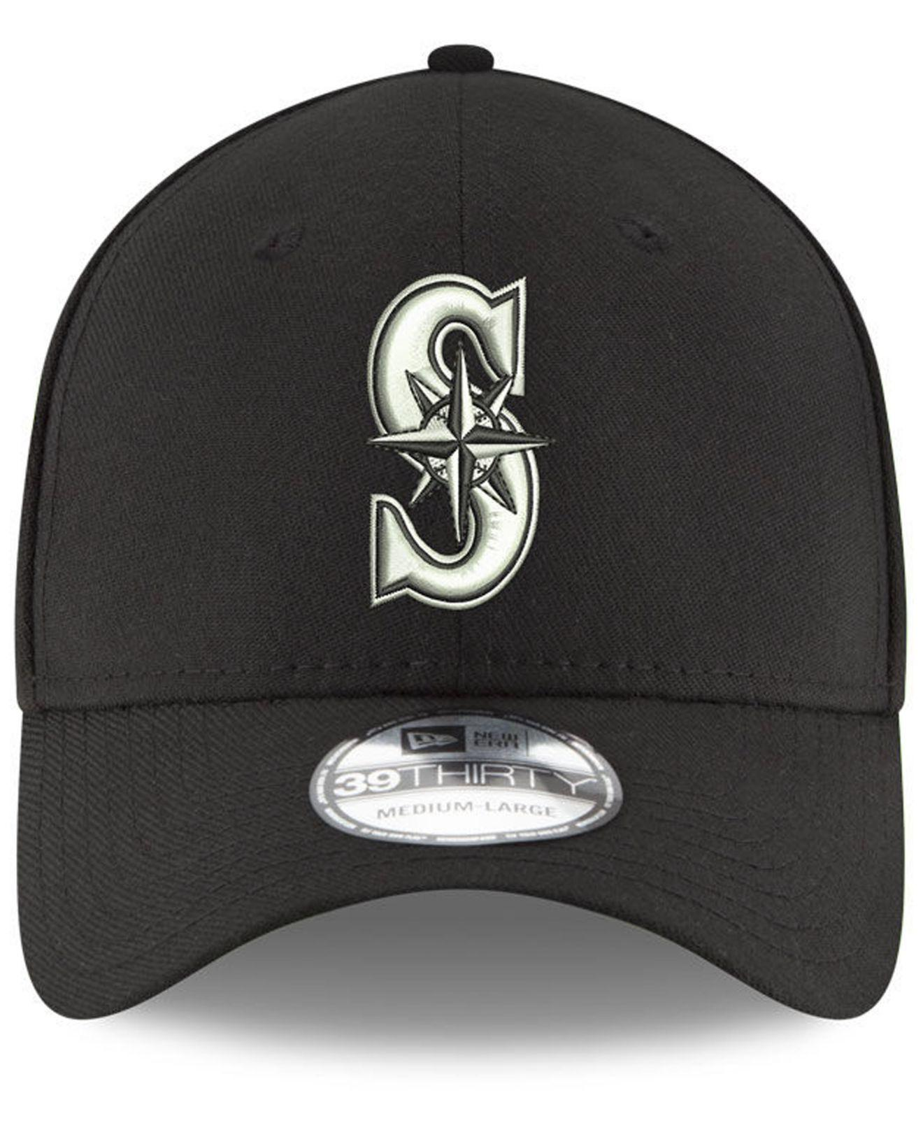 buy popular a04f7 fe374 Lyst - KTZ Seattle Mariners Dub Classic 39thirty Cap in Black for Men