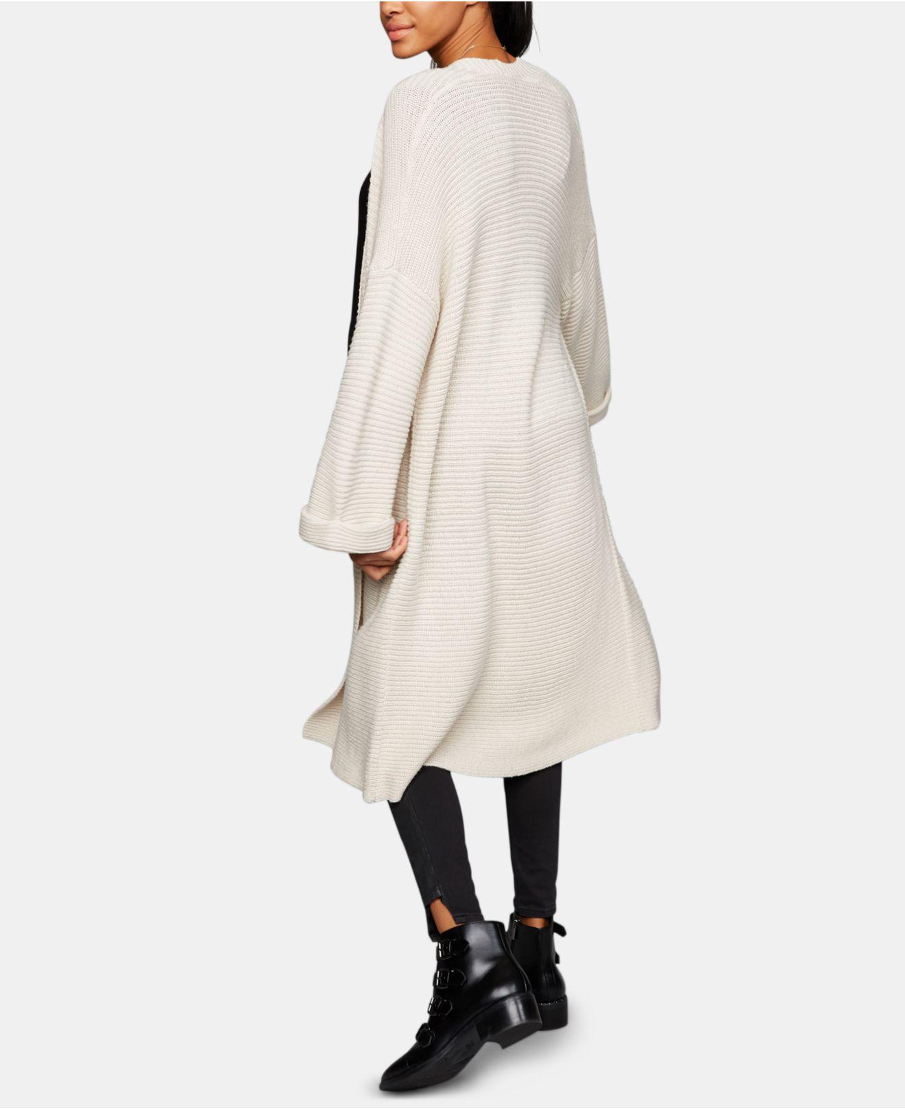 1d1529a298f20 Cupcakes And Cashmere Heavy Knit Belted Duster Maternity Coat in ...