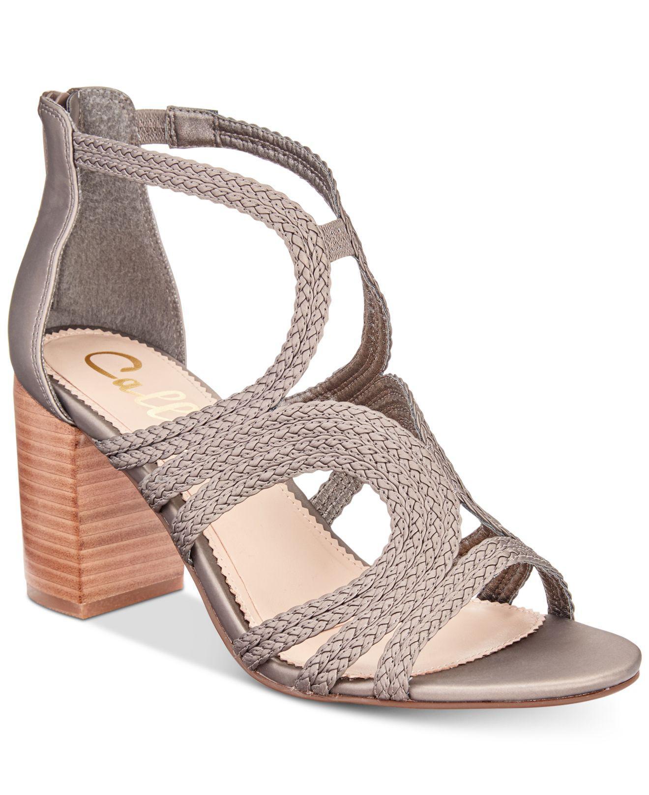 Callisto Shindig Strappy Block-Heel Sandals Women's Shoes Ues6x7r