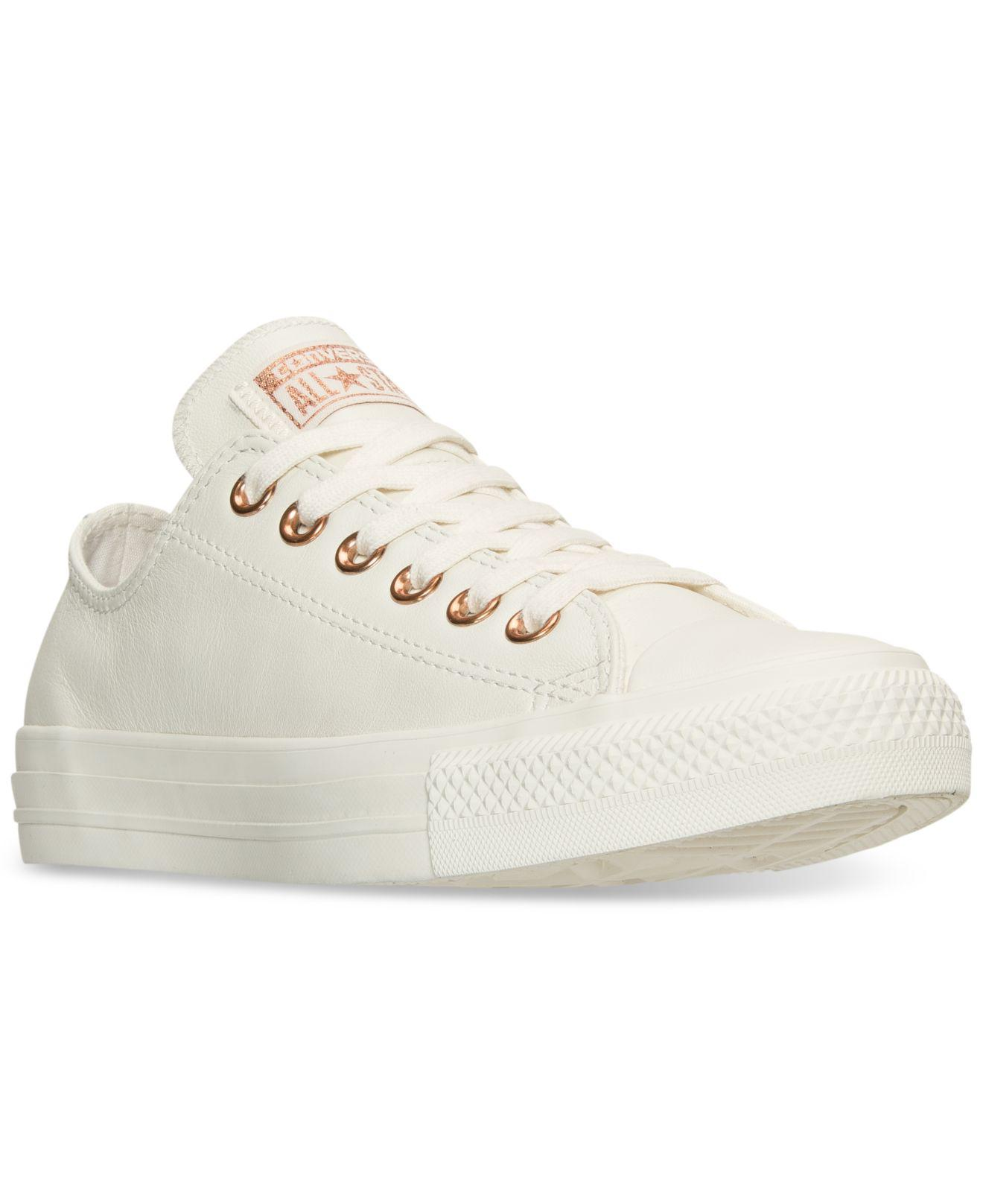 81338bb02d2b Lyst - Converse Women s Chuck Taylor Pastel Leather Ox Casual ...