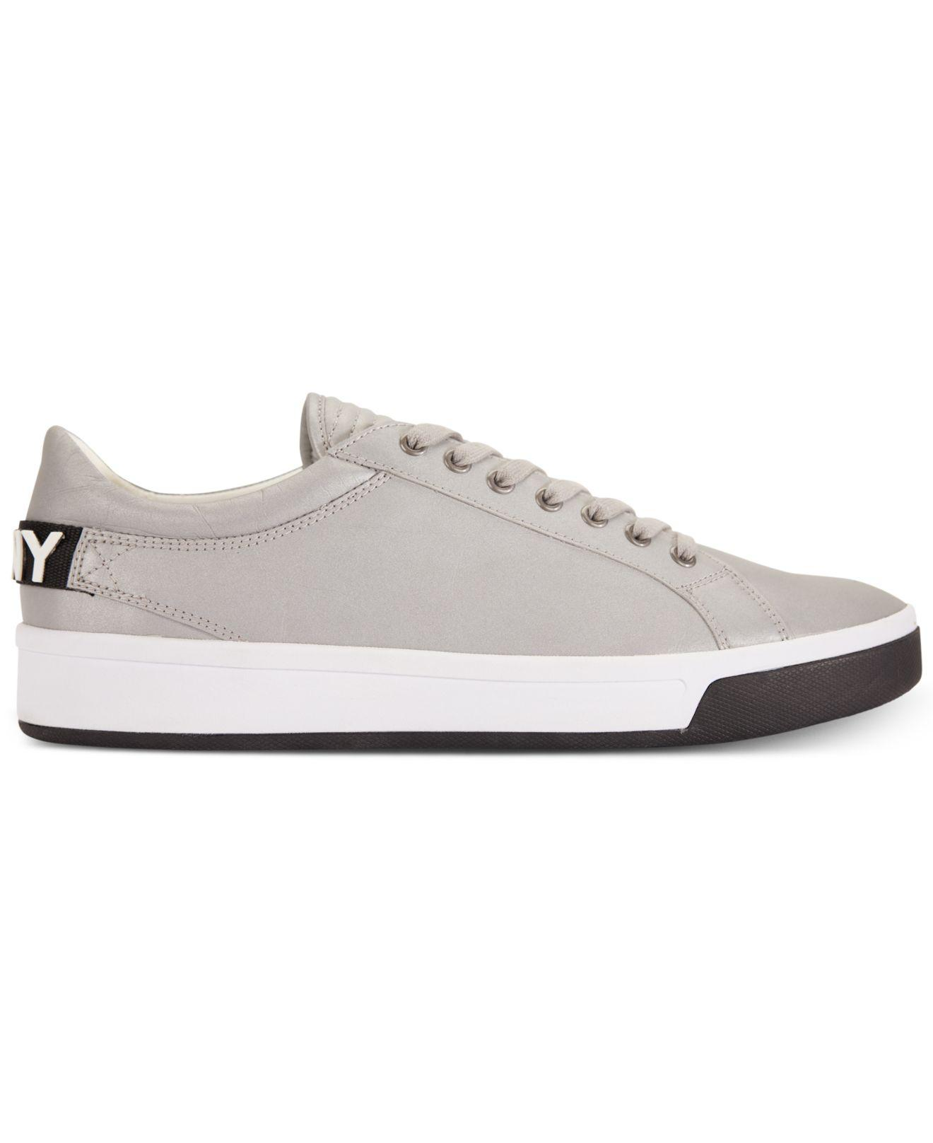 DKNY Leather Samson Lace-up Sneakers