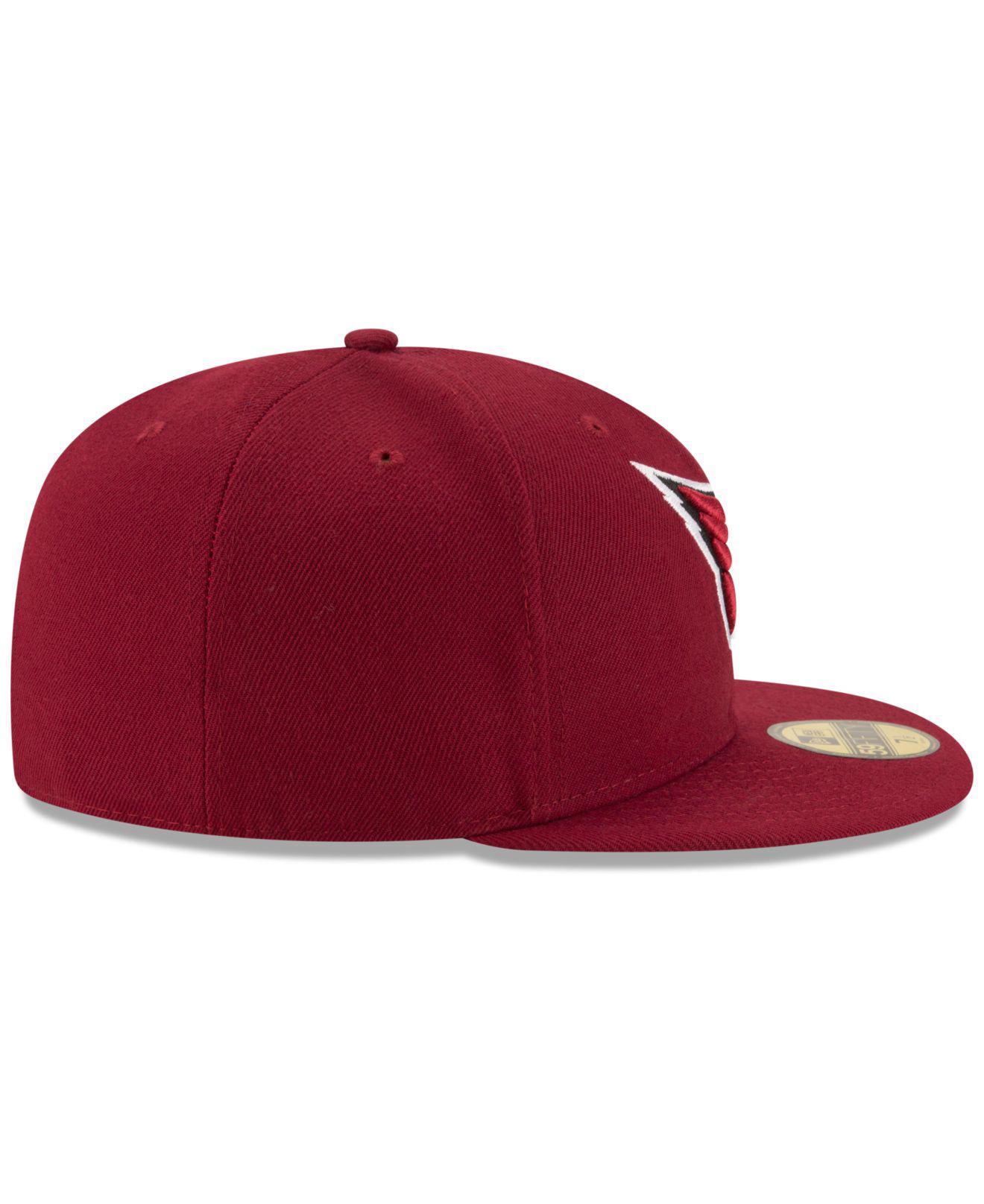 low priced 87f7d 06b9e KTZ - Red Arizona Cardinals Team Basic 59fifty Cap for Men - Lyst. View  fullscreen
