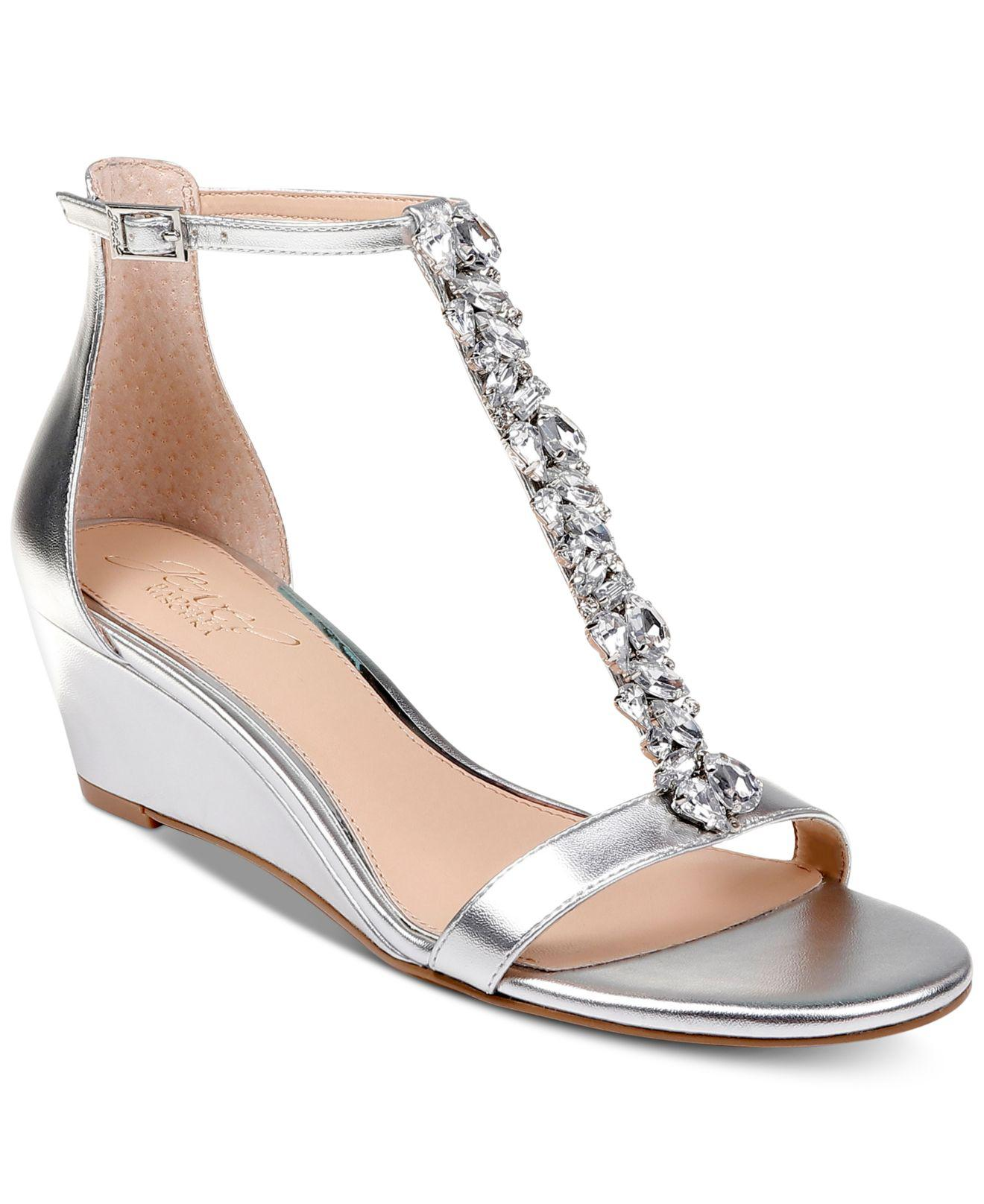 f0b462f302fb Lyst - Badgley Mischka Darrell Wedge Sandals in Metallic