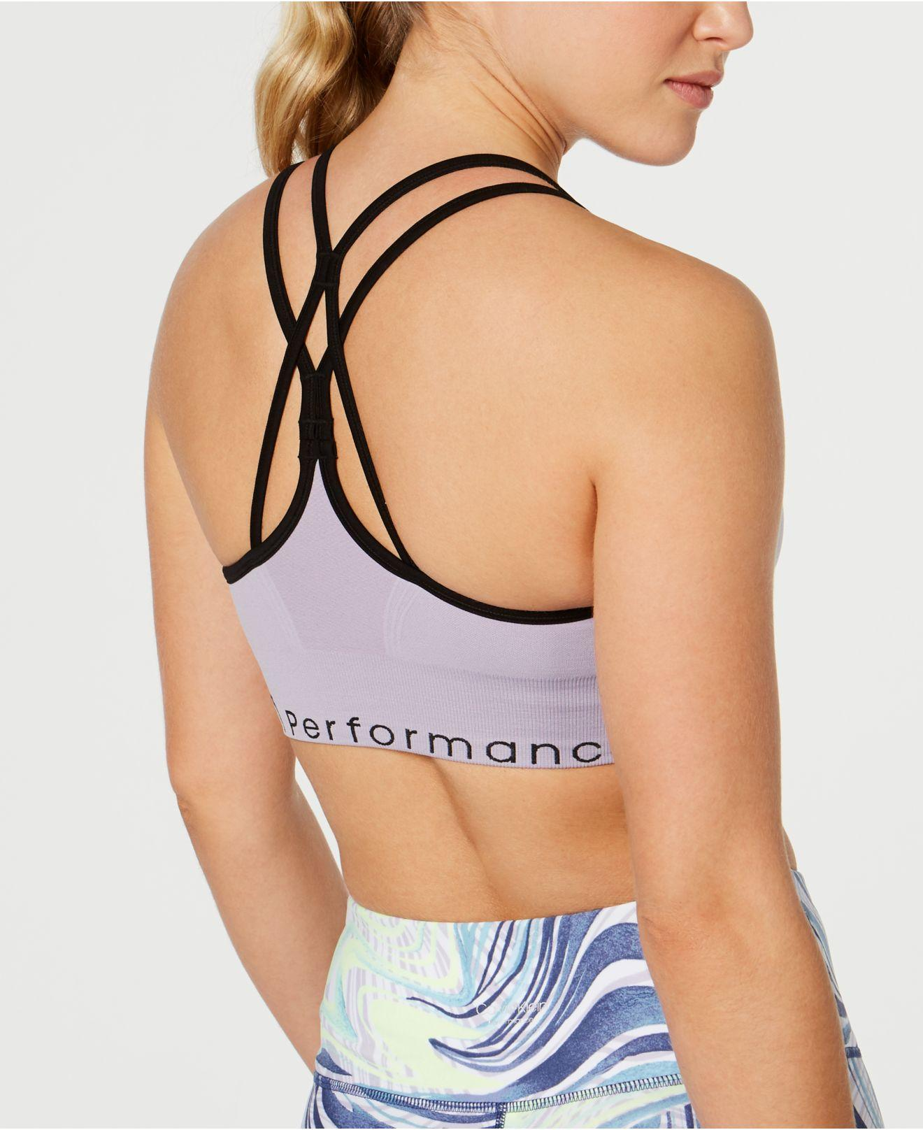 b53afb2625 Lyst - Calvin Klein Performance Strappy-back Low-impact Sports Bra