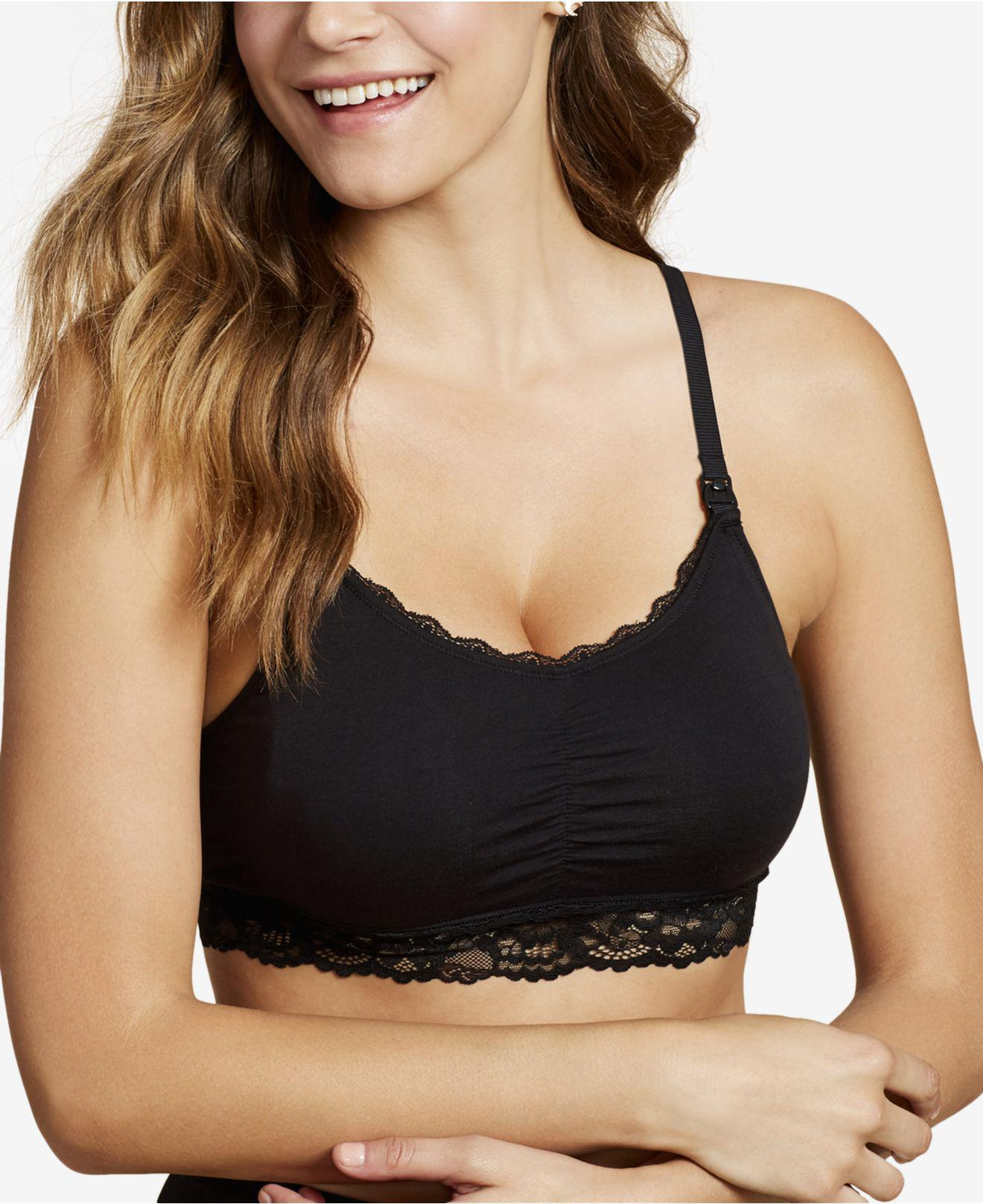 534292c062ee9 Lyst - Jessica Simpson Wireless Clip-down Nursing Bra in Black