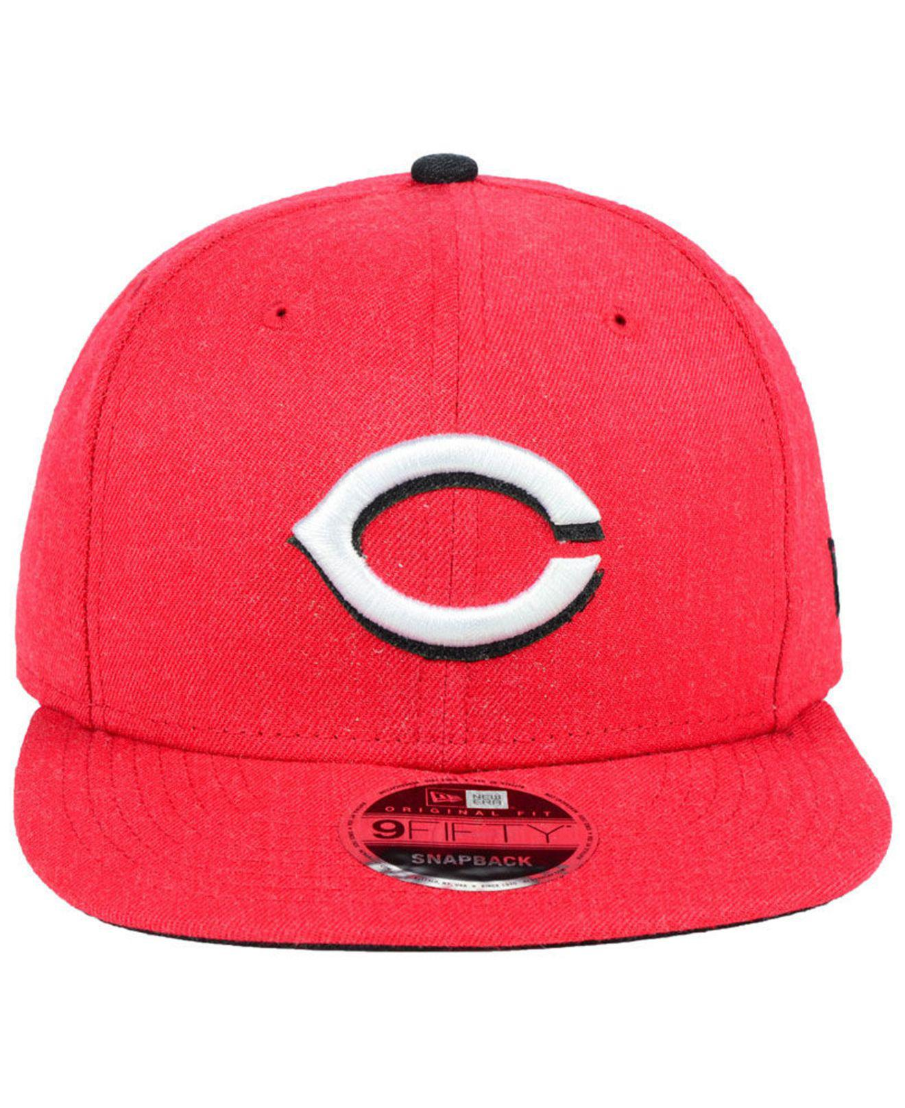 differently bd658 4c297 Lyst - KTZ Cincinnati Reds Heather Hype 9fifty Snapback Cap in Red ...
