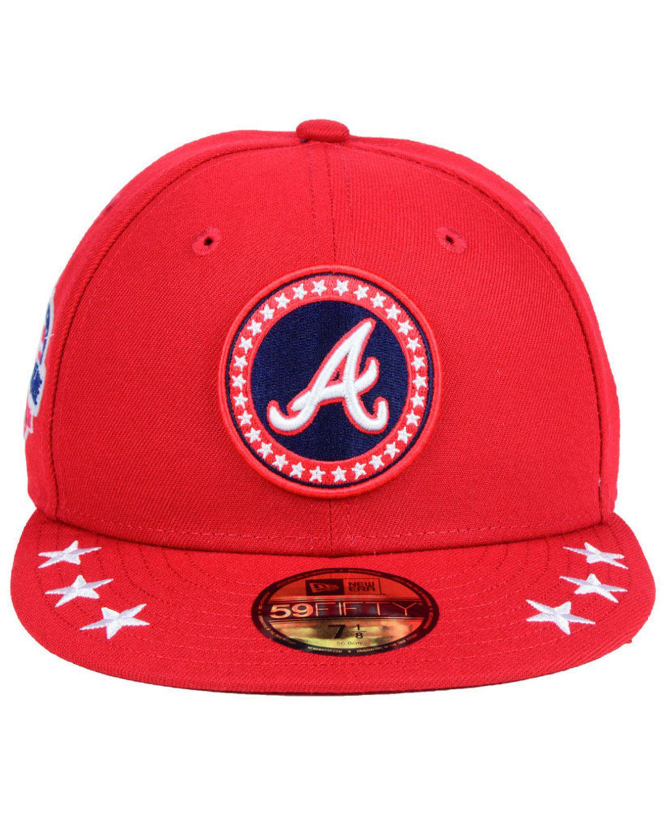 buy online 691e1 380b8 ... sweden lyst ktz atlanta braves all star workout 59fifty fitted cap 2018  in red for men