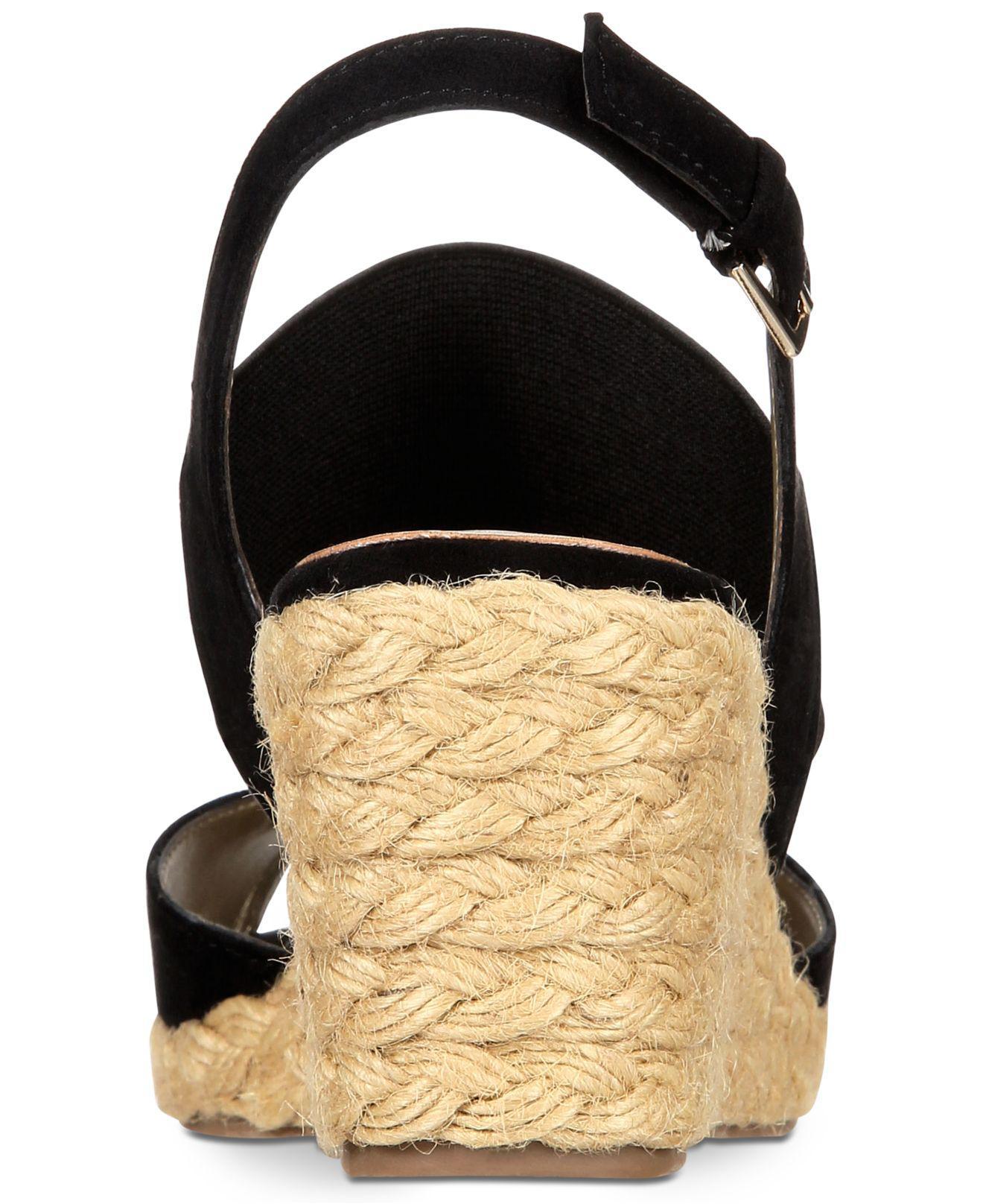 57281cc557f Bandolino - Black Himeka Espadrille Wedge Sandals, Created For Macy's - Lyst