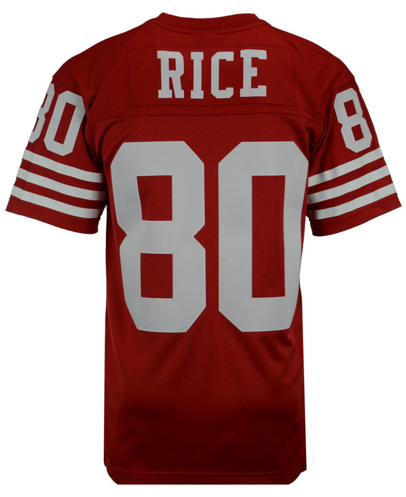 2dd7b8a5e Lyst - Mitchell   Ness Men s Jerry Rice San Francisco 49ers Replica ...
