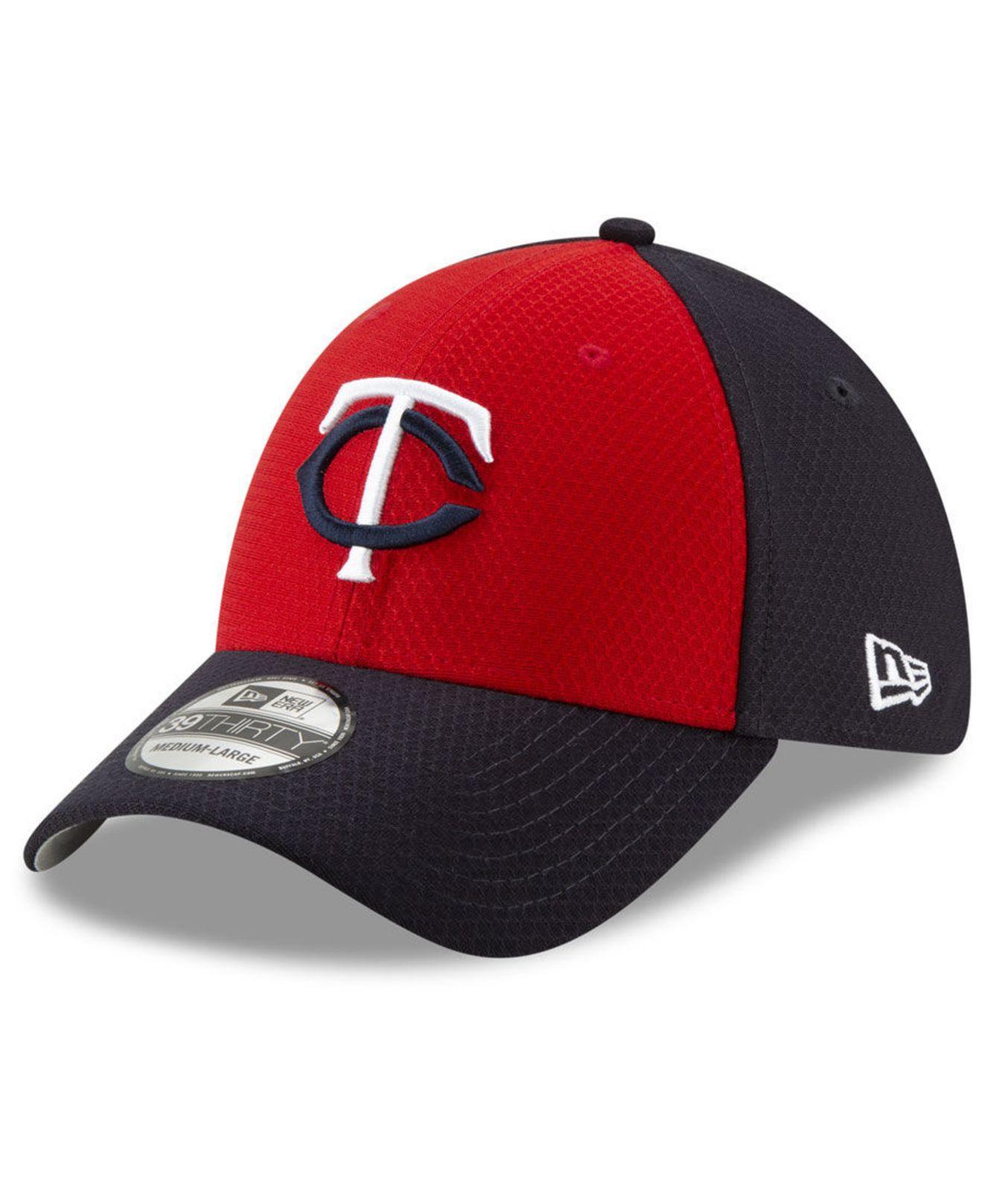 bd62f428 KTZ - Red Minnesota Twins Batting Practice 39thirty Cap for Men - Lyst.  View fullscreen