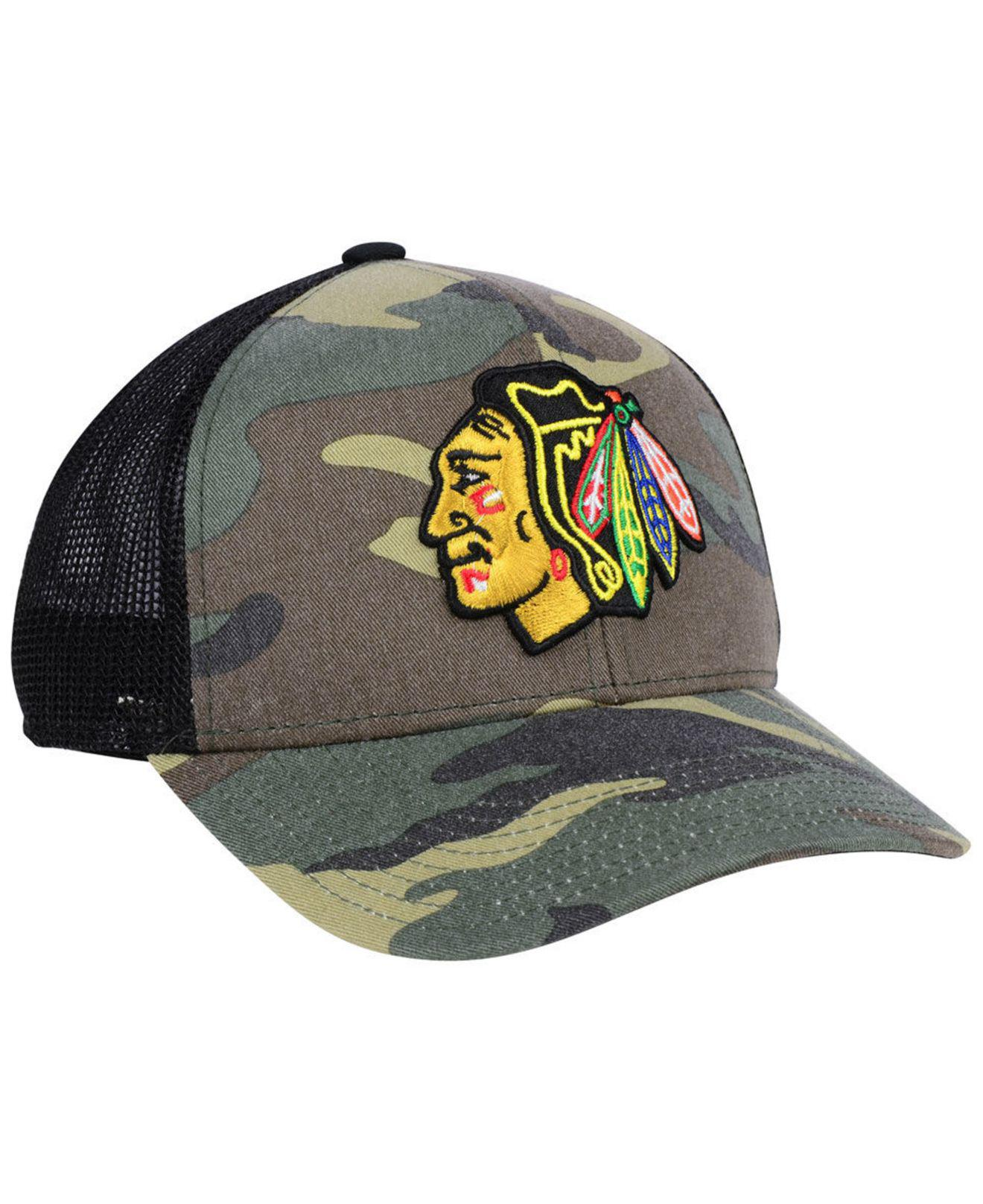fec46cc6dd Adidas Multicolor Chicago Blackhawks Camo Trucker Cap for men