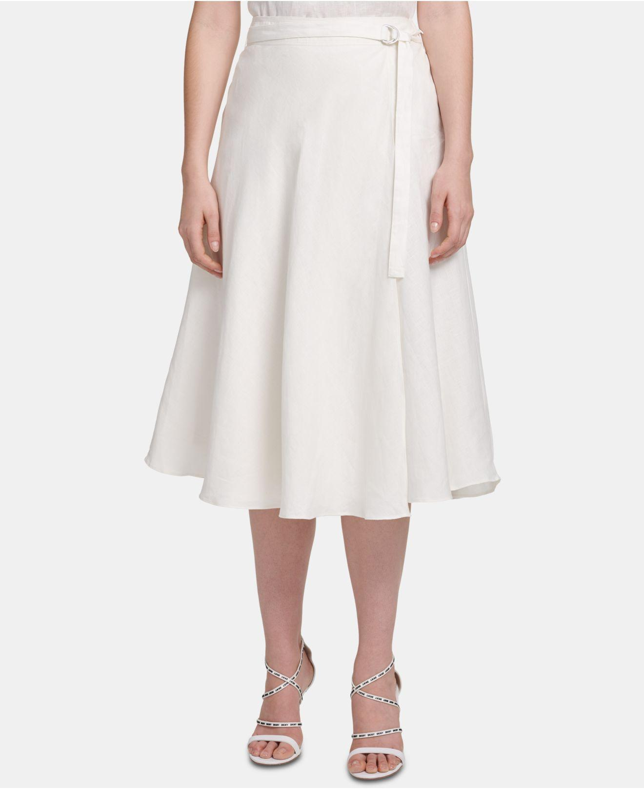 lowest price professional website Super discount Women's White Belted Midi Skirt