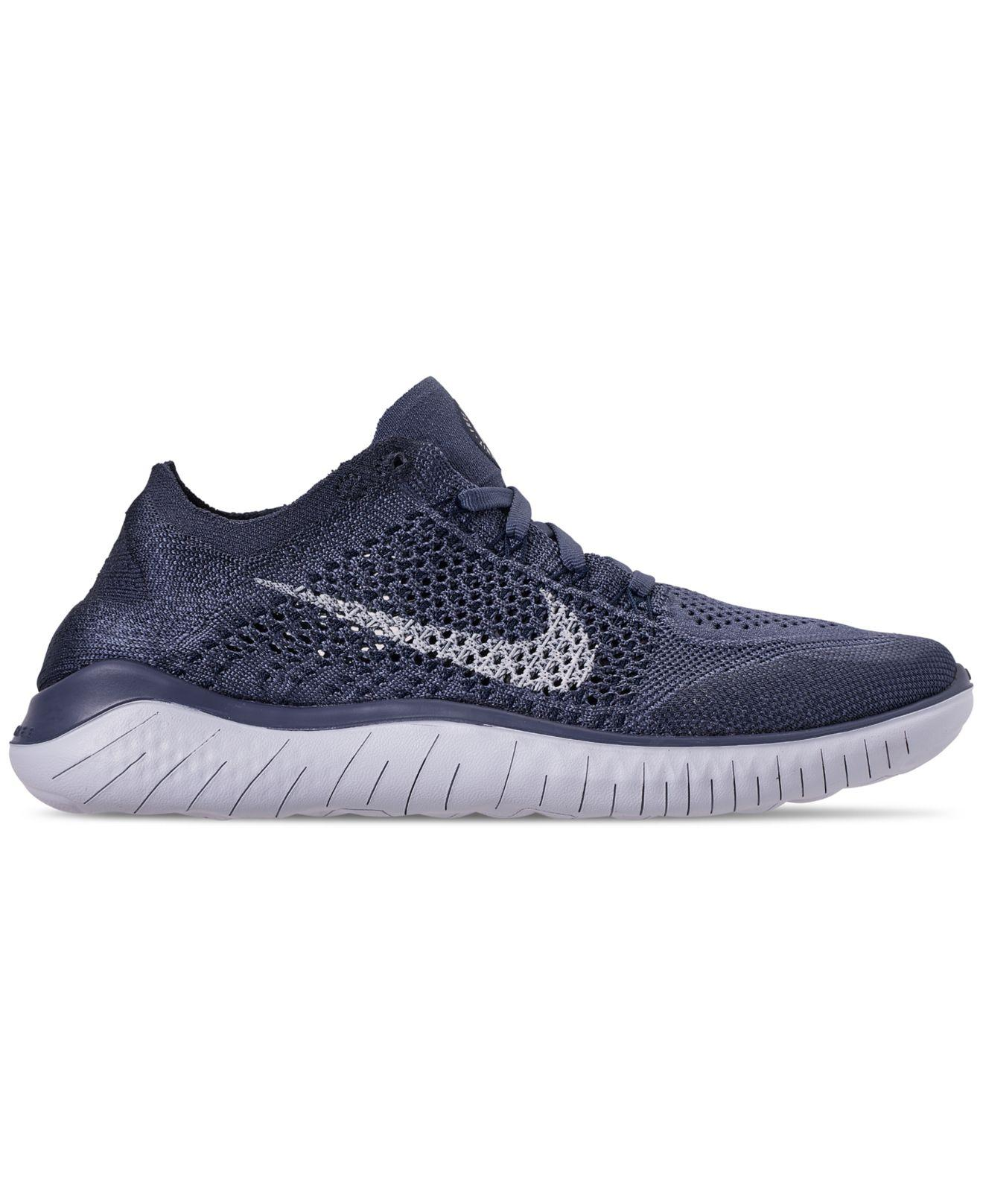 39ce59cb5be7 Lyst - Nike Free Rn Flyknit 2018 Running Sneakers From Finish Line in Blue  for Men