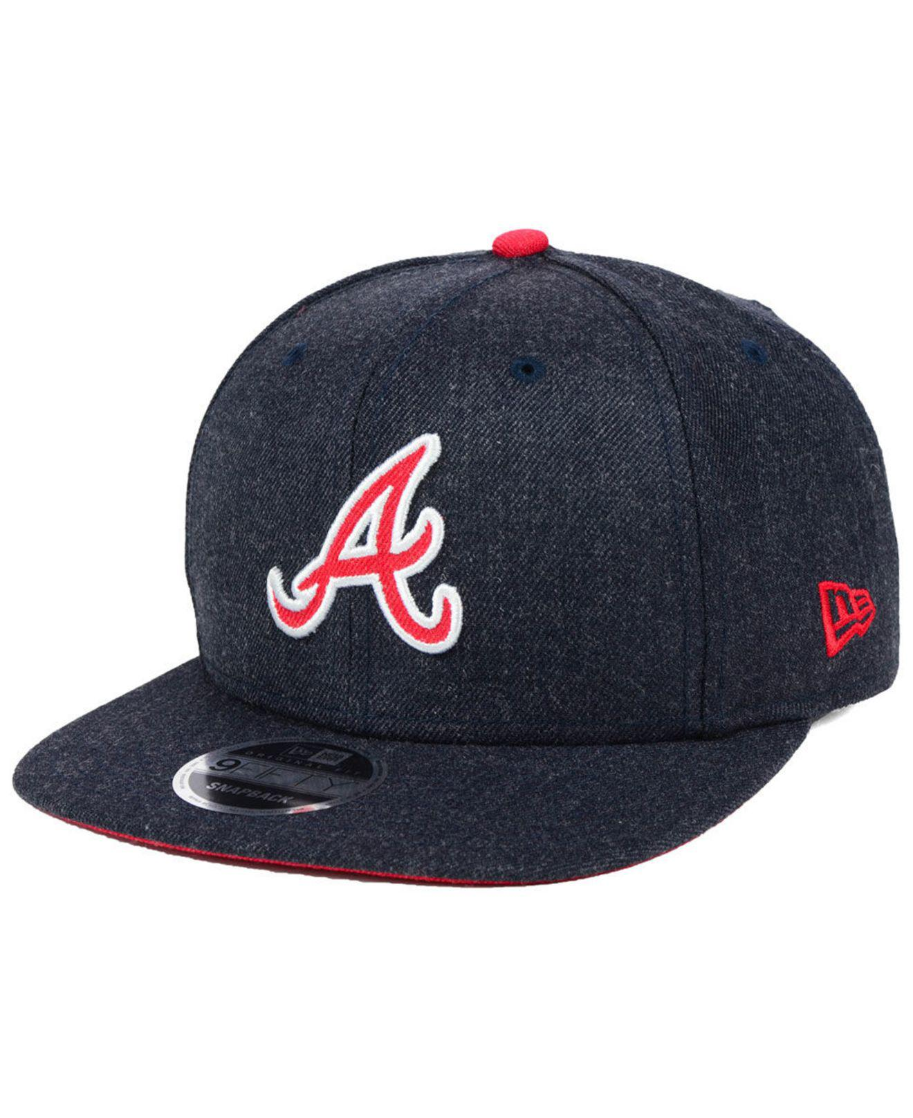 closer at buy popular great deals KTZ Synthetic Atlanta Braves Heather Hype 9fifty Snapback Cap in ...