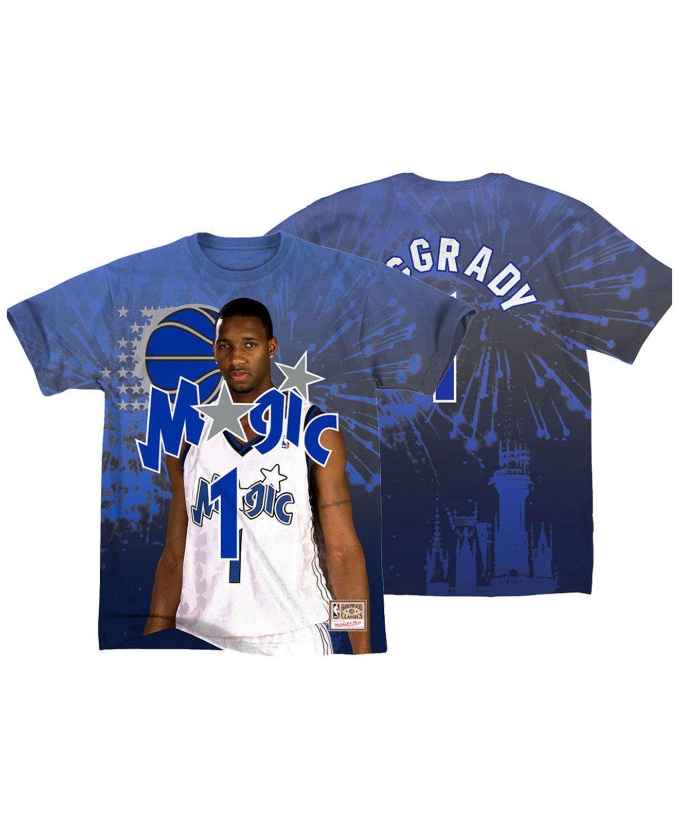 huge selection of ea839 91a6a Men's Blue Tracy Mcgrady Orlando Magic City Pride Name And Number T-shirt
