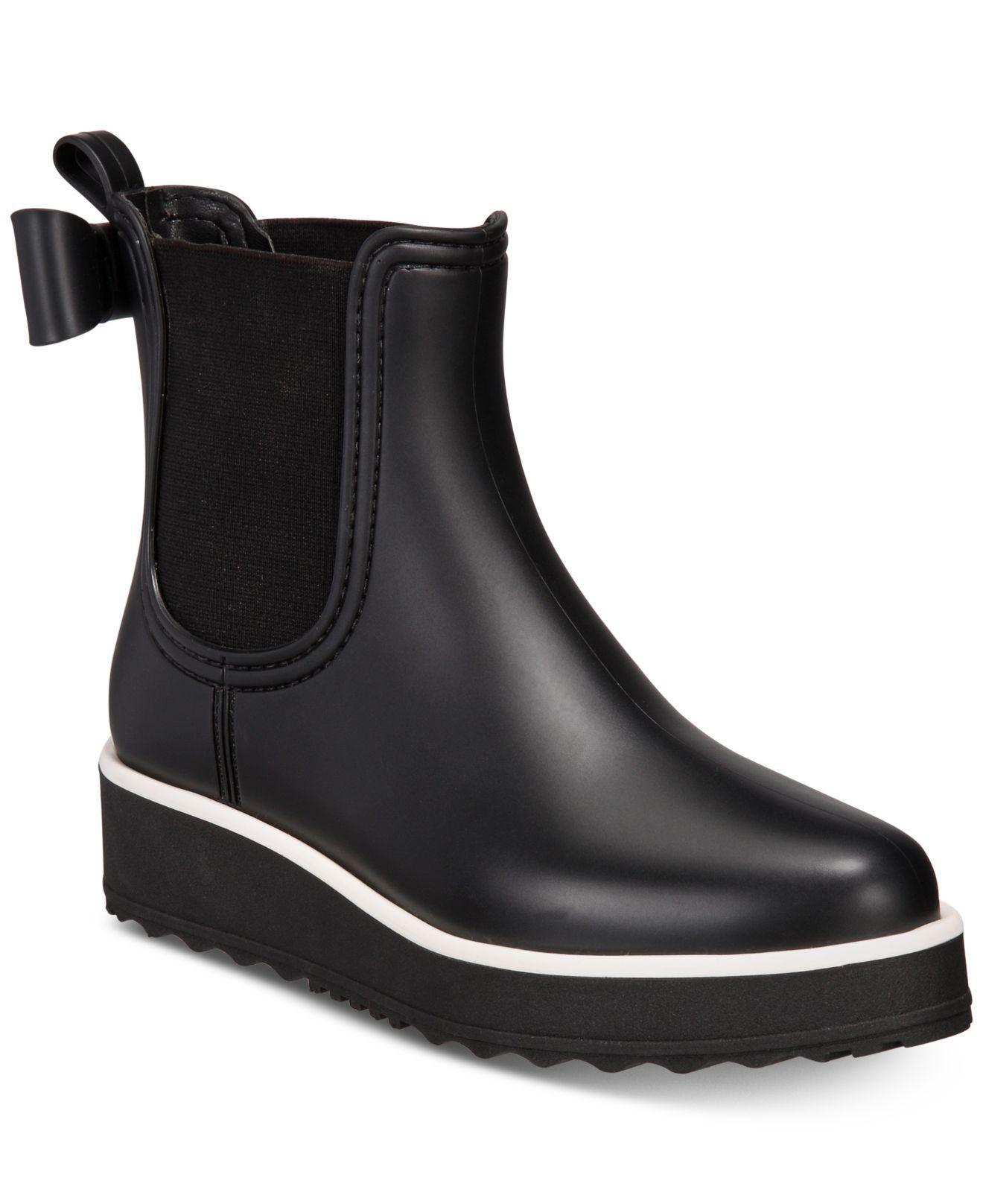 Kate Spade Rubber Malcom Rain Shoe In Black - Lyst-7003