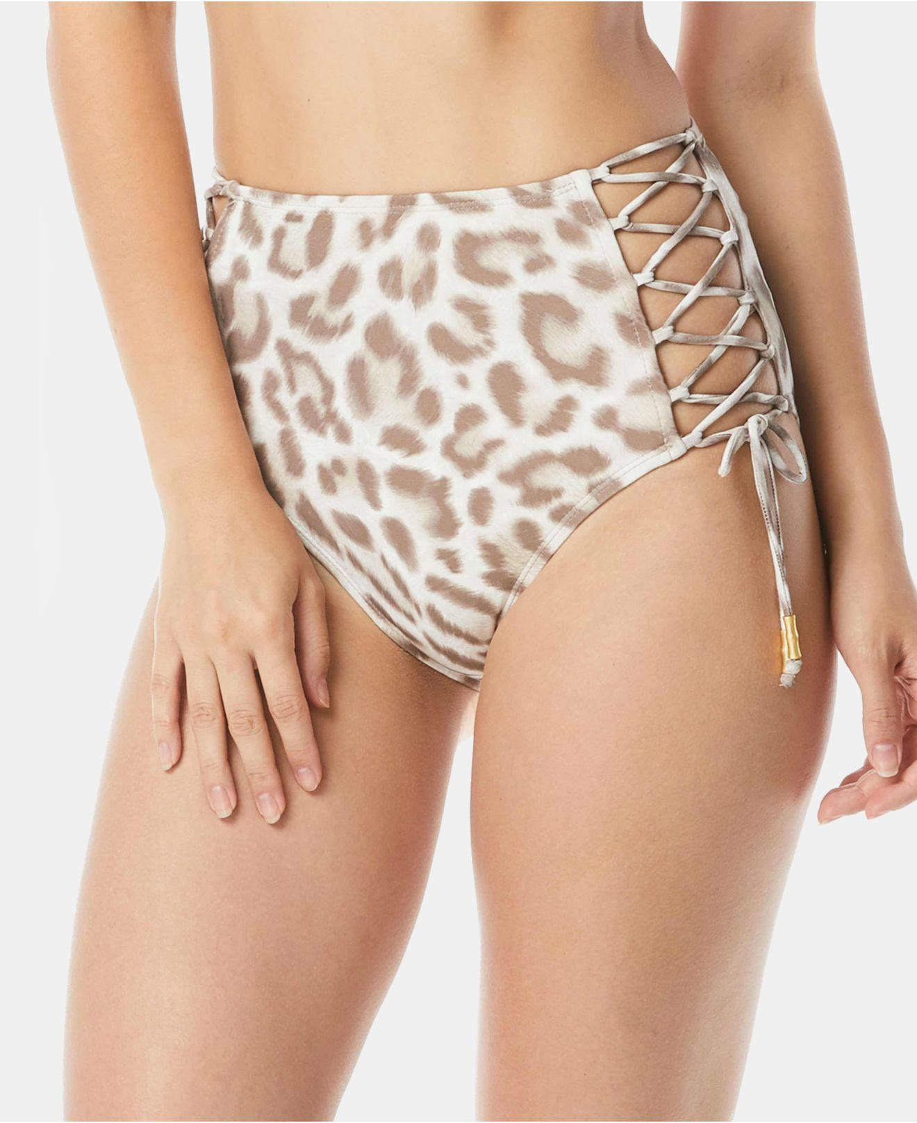 678e7657c1c Carmen Marc Valvo Printed Side-tie High-waist Bikini Bottom - Save ...