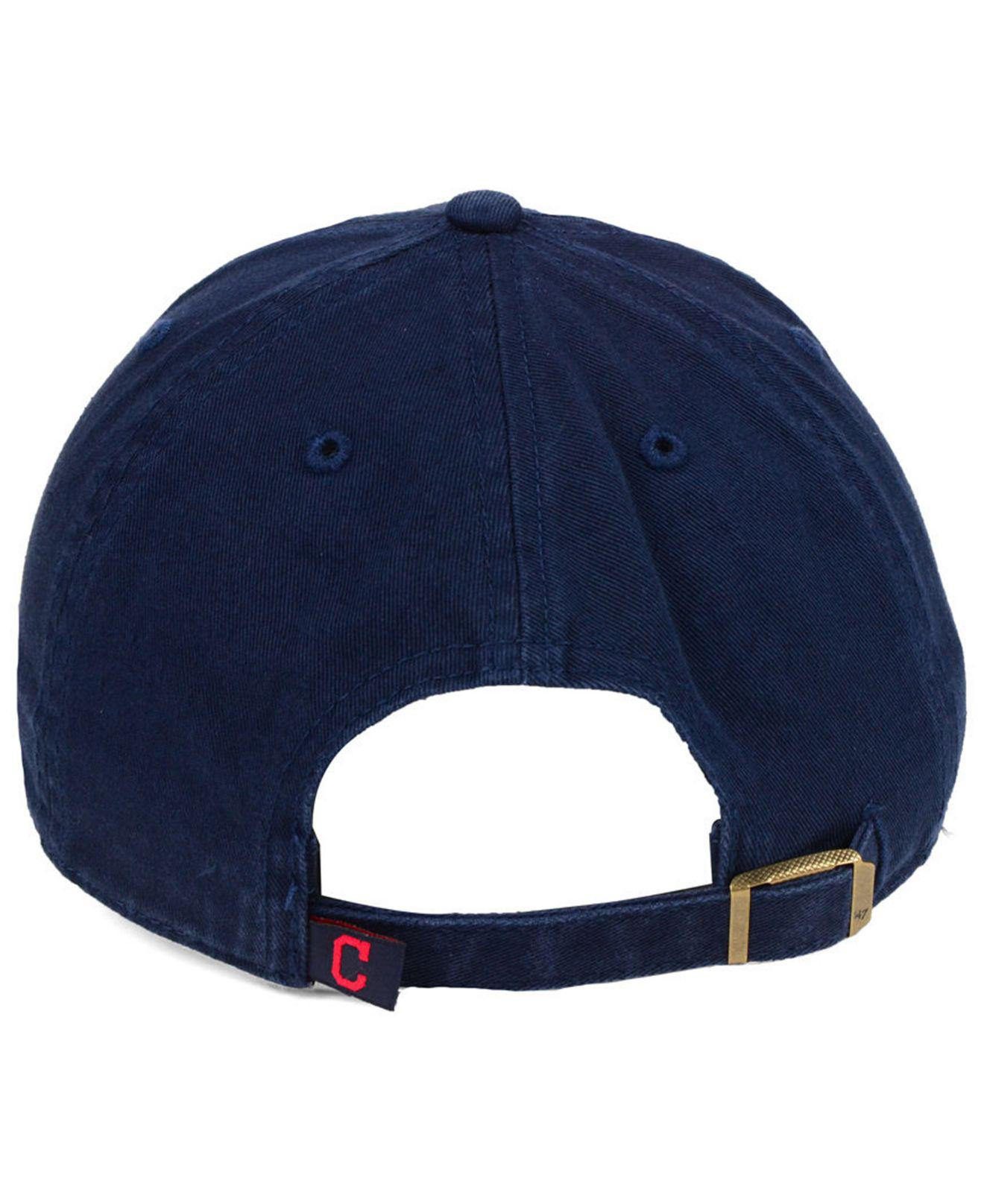 huge discount 329d1 24811 ... closeout sale lyst 47 brand cleveland indians axis clean up cap in blue  for men a593f