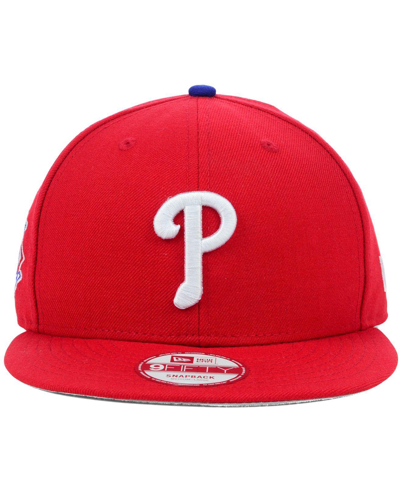 919c9bb1235 Lyst - KTZ Philadelphia Phillies Mlb 2 Tone Link 9fifty Snapback Cap in Red  for Men
