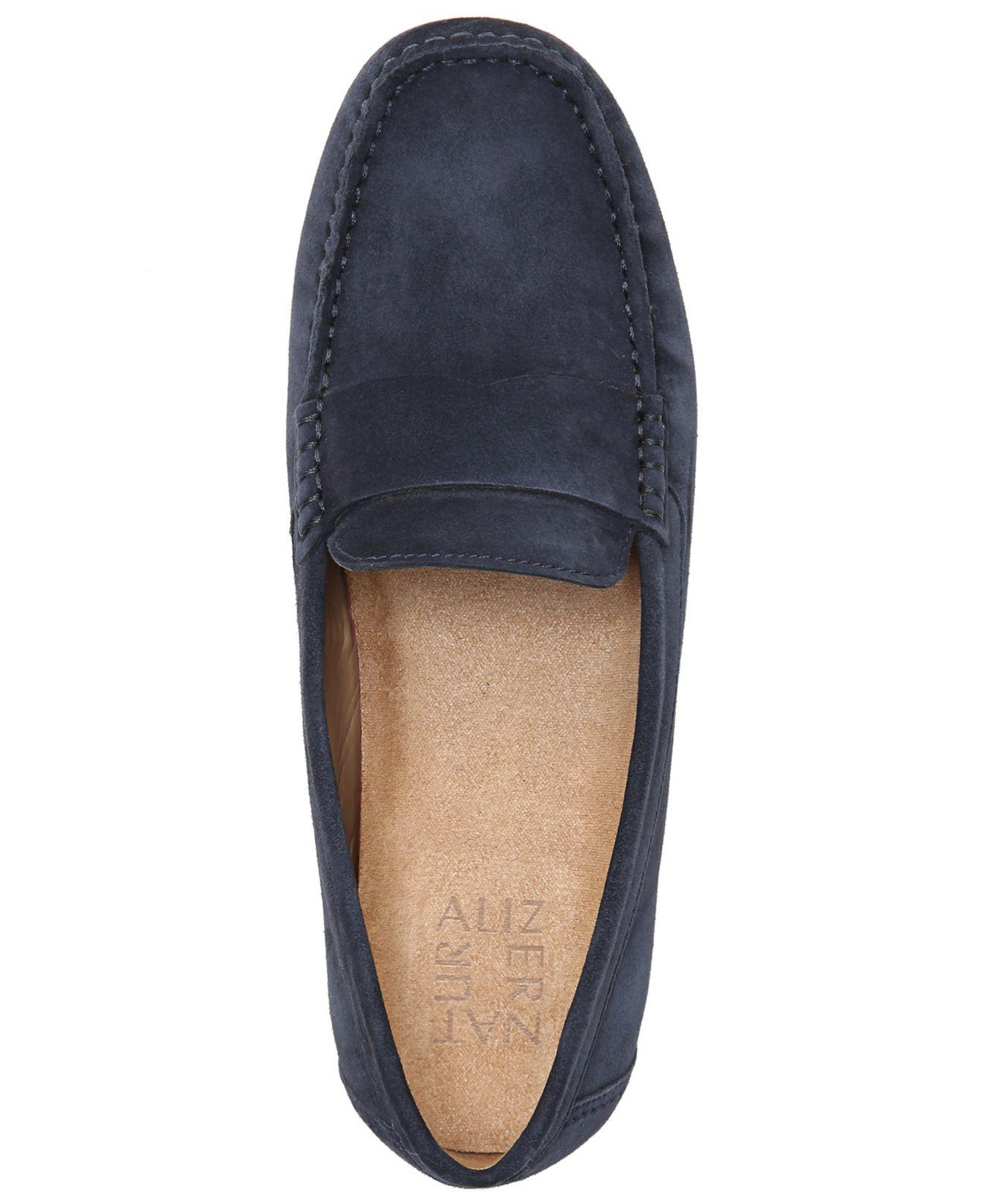 Naturalizer Suede Brynn Loafers in Blue