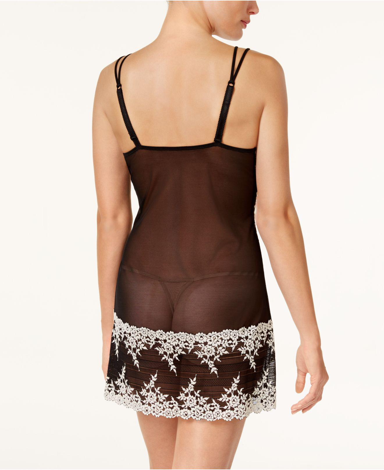 28b9b7ac3 Wacoal Embrace Lace Chemise 814191 in Black - Save 52% - Lyst