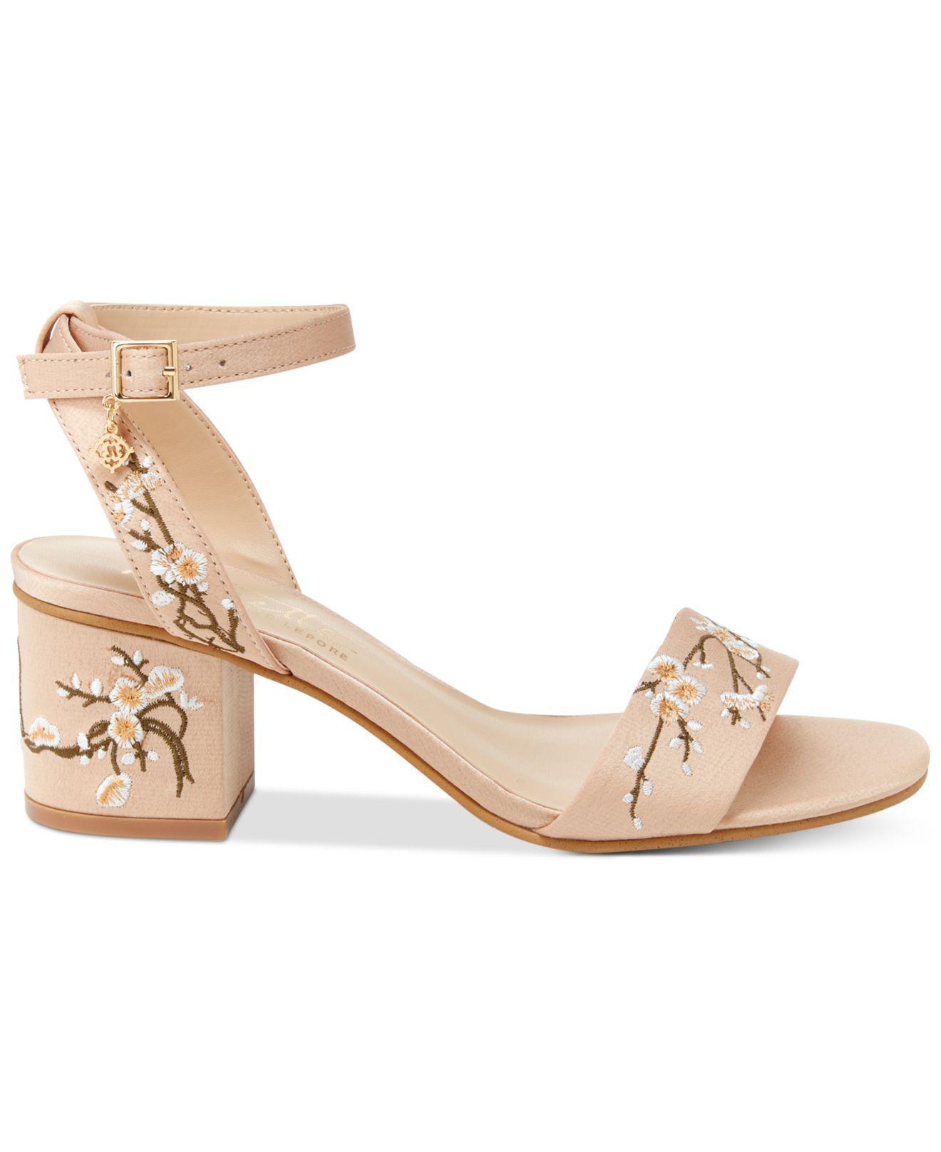 41959fba447 Lyst - Nanette Lepore Ruby Two-piece Block-heel Sandals