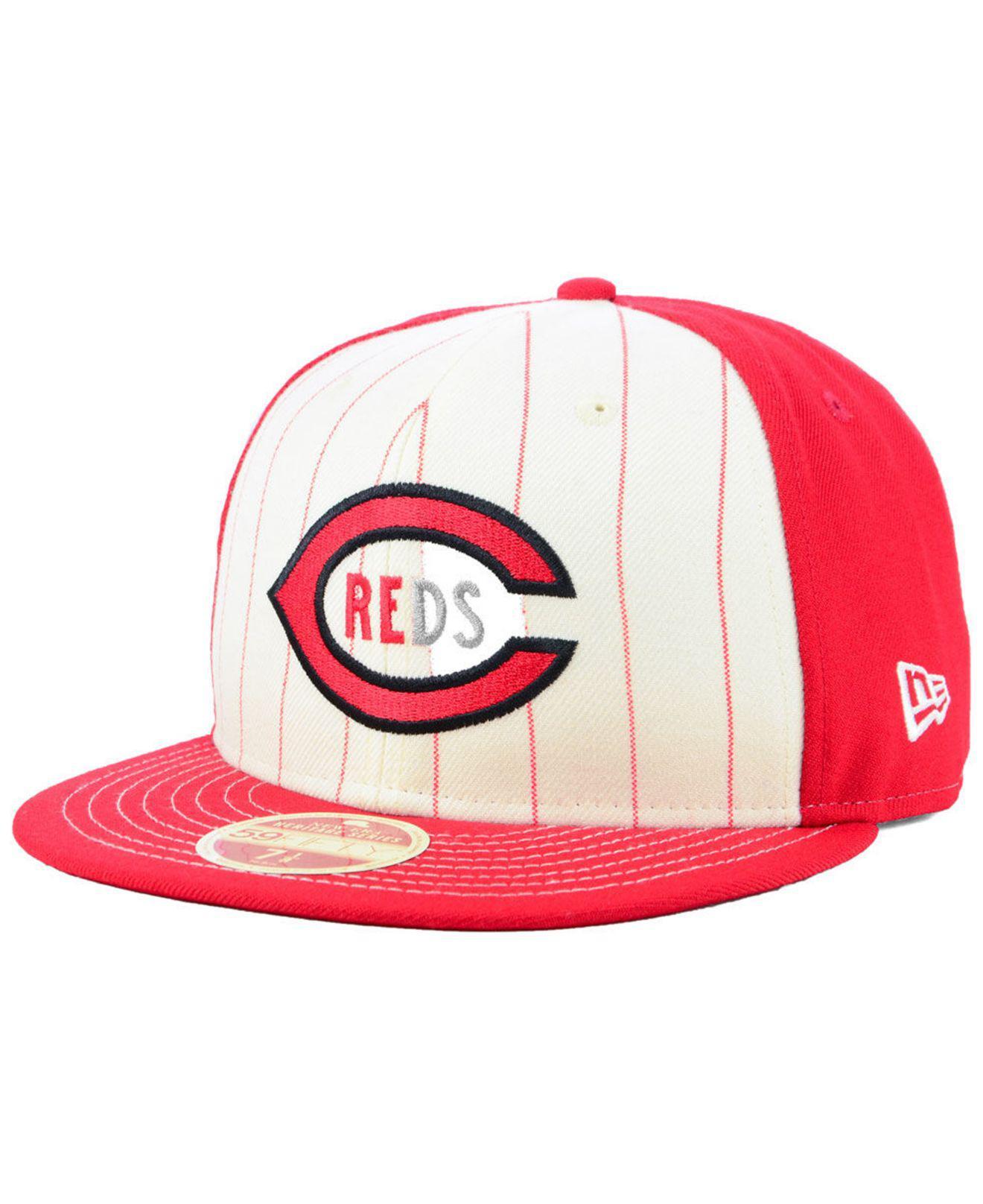lowest price c1130 6ec29 usa ktz. mens cincinnati reds vintage front 59fifty fitted cap 349d3 f29cb