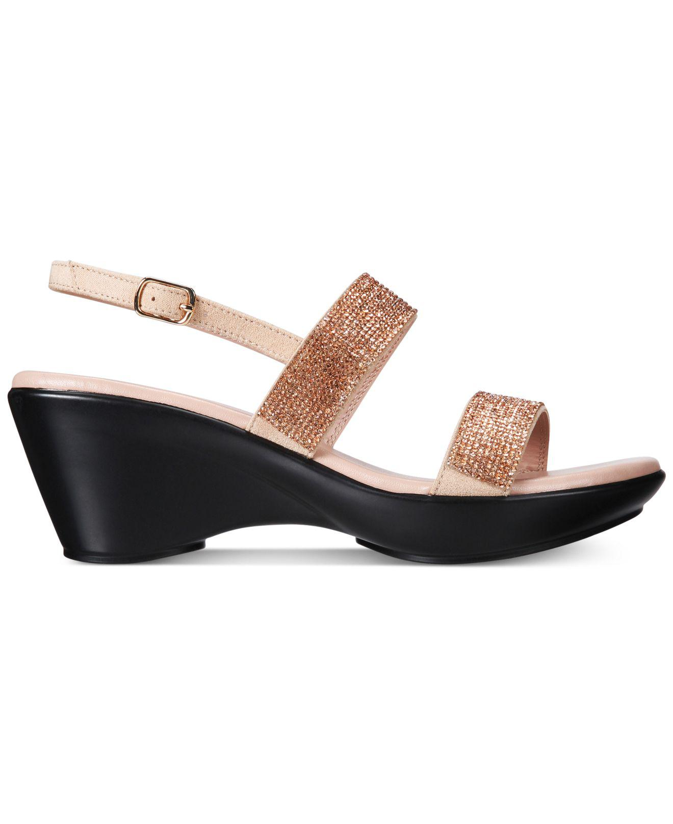 Callisto Simion Embellished Wedge Sandals Women's Shoes ulSCWk