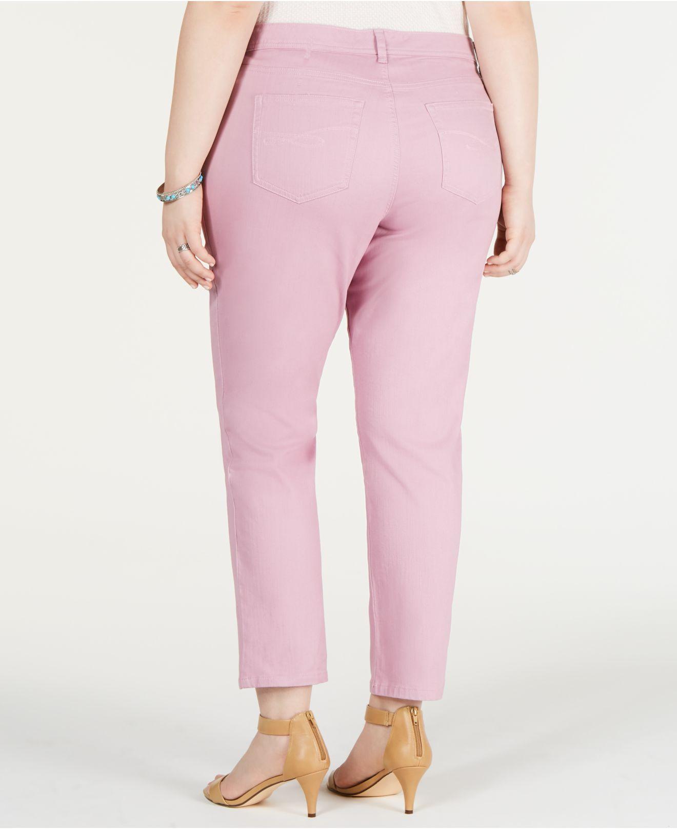 11bd24525c2 Lyst - Style   Co. Plus   Petite Plus Size Tummy-control Slim-leg Jeans