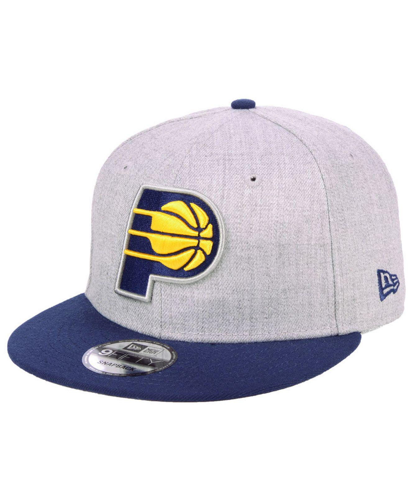 size 40 78905 f5b39 ... coupon code for ktz. mens indiana pacers heather gray 9fifty snapback  cap aedef 5144a