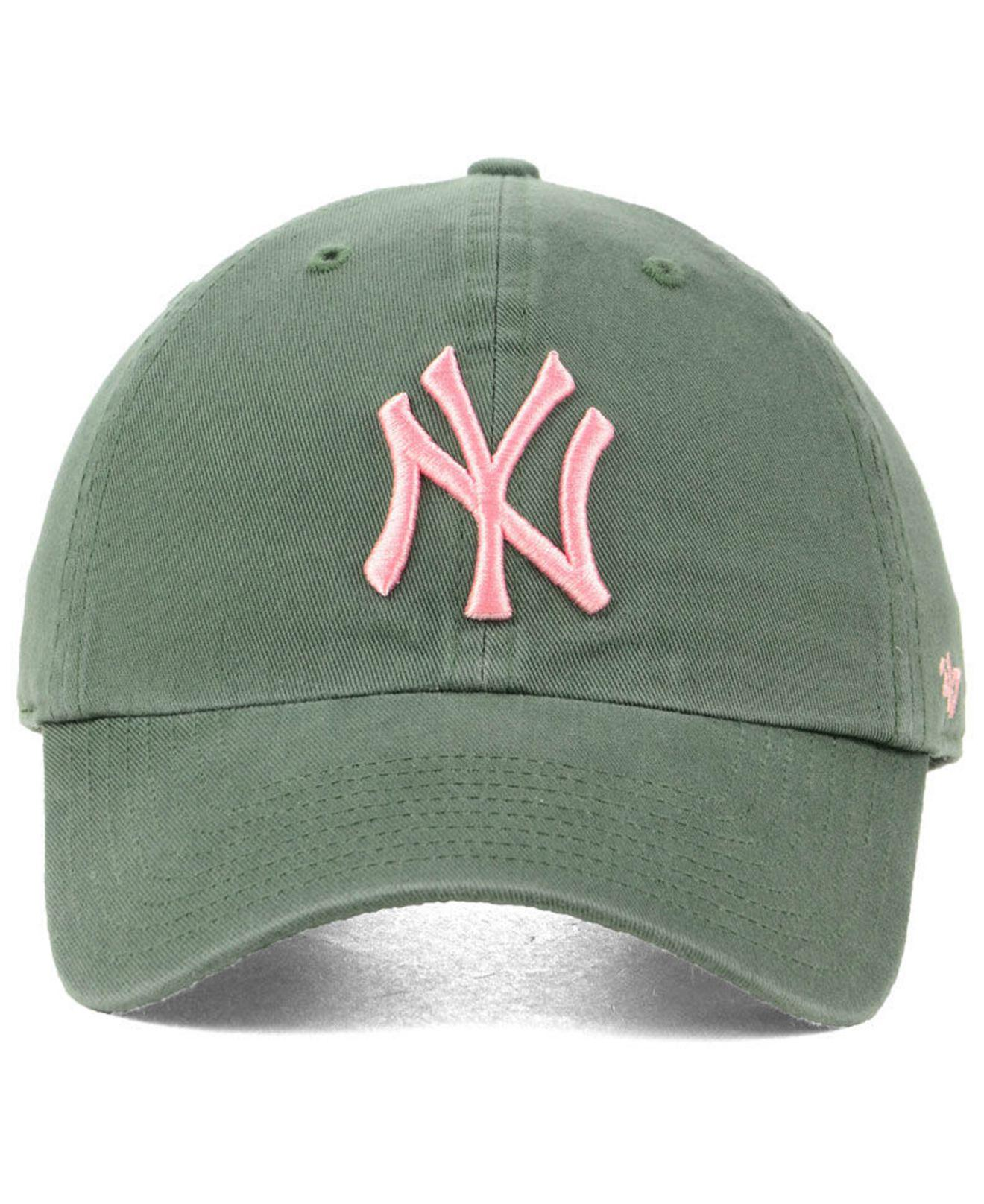 573c83d13c8 Lyst - 47 Brand New York Yankees Moss Pink Clean Up Cap in Green