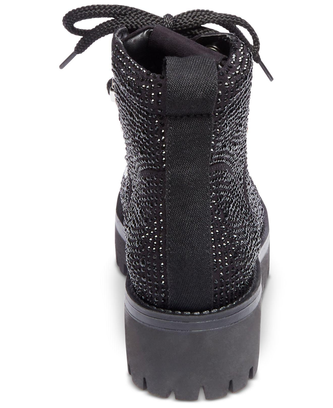 2159c4157b7 Lyst - Steve Madden Bam Hiker Booties in Black