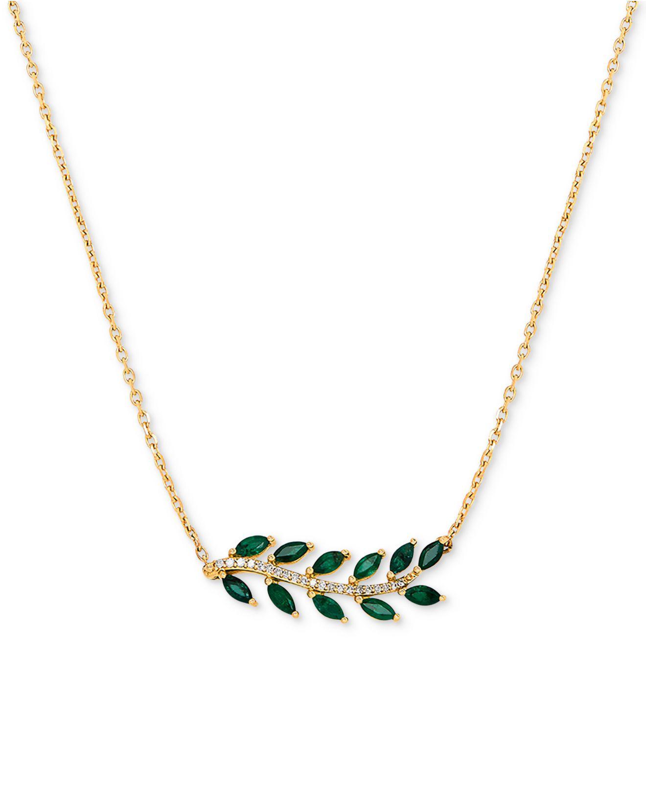 c99f796f4aa4b Women's Green Emerald (3/4 Ct. T.w.) & Diamond Accent 18