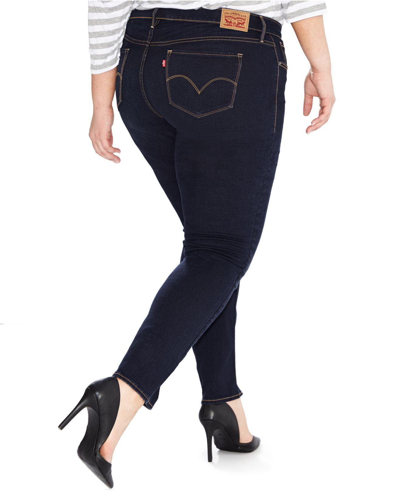 3db1f6576e6 Lyst - Levi s Plus Size 311 Shaping Skinny Jeans in Blue - Save 44%