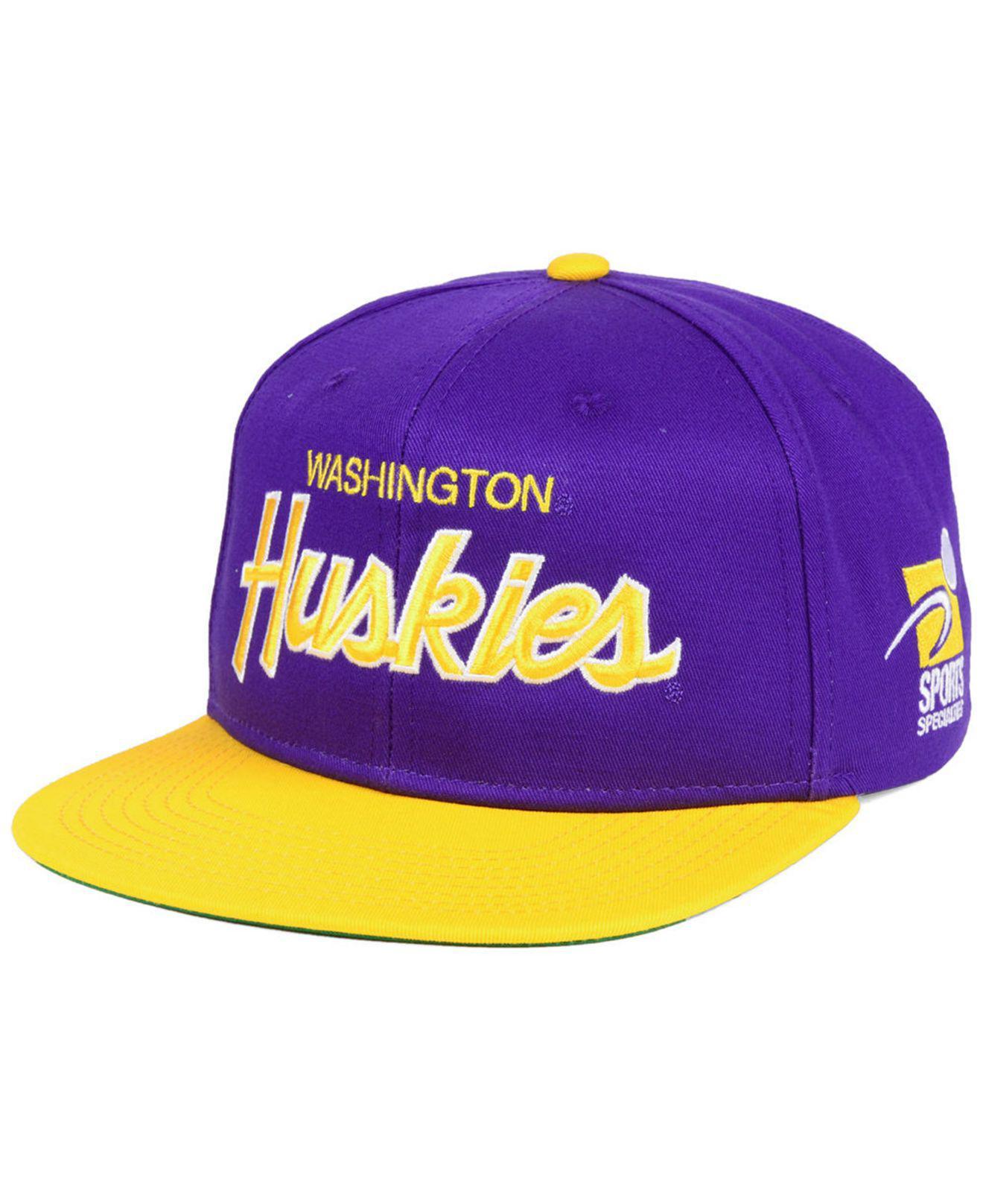 100% authentic 88956 6801e Nike Washington Huskies Sport Specialties Snapback Cap in Purple for ...