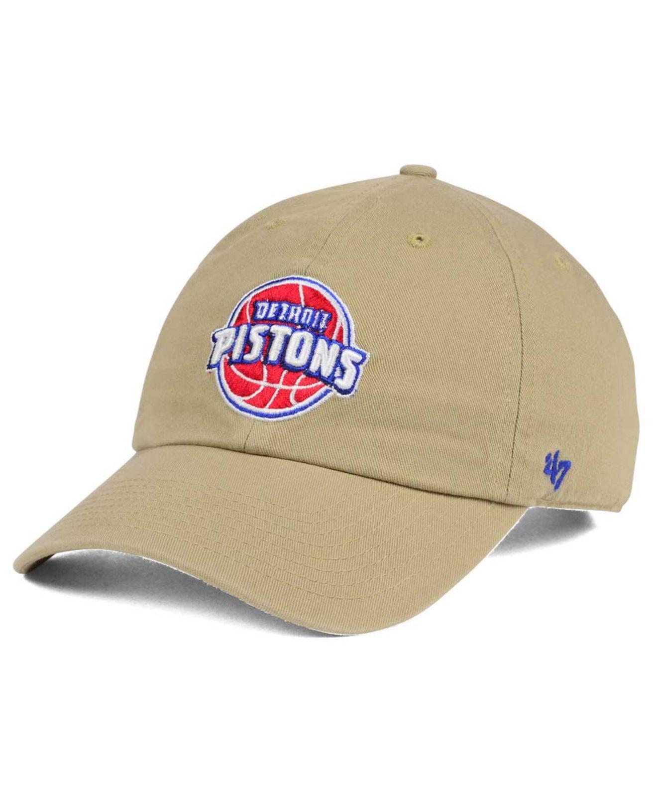 size 40 9b2f6 b7abf ... new style lyst 47 brand detroit pistons khaki clean up cap for men  cd056 25777