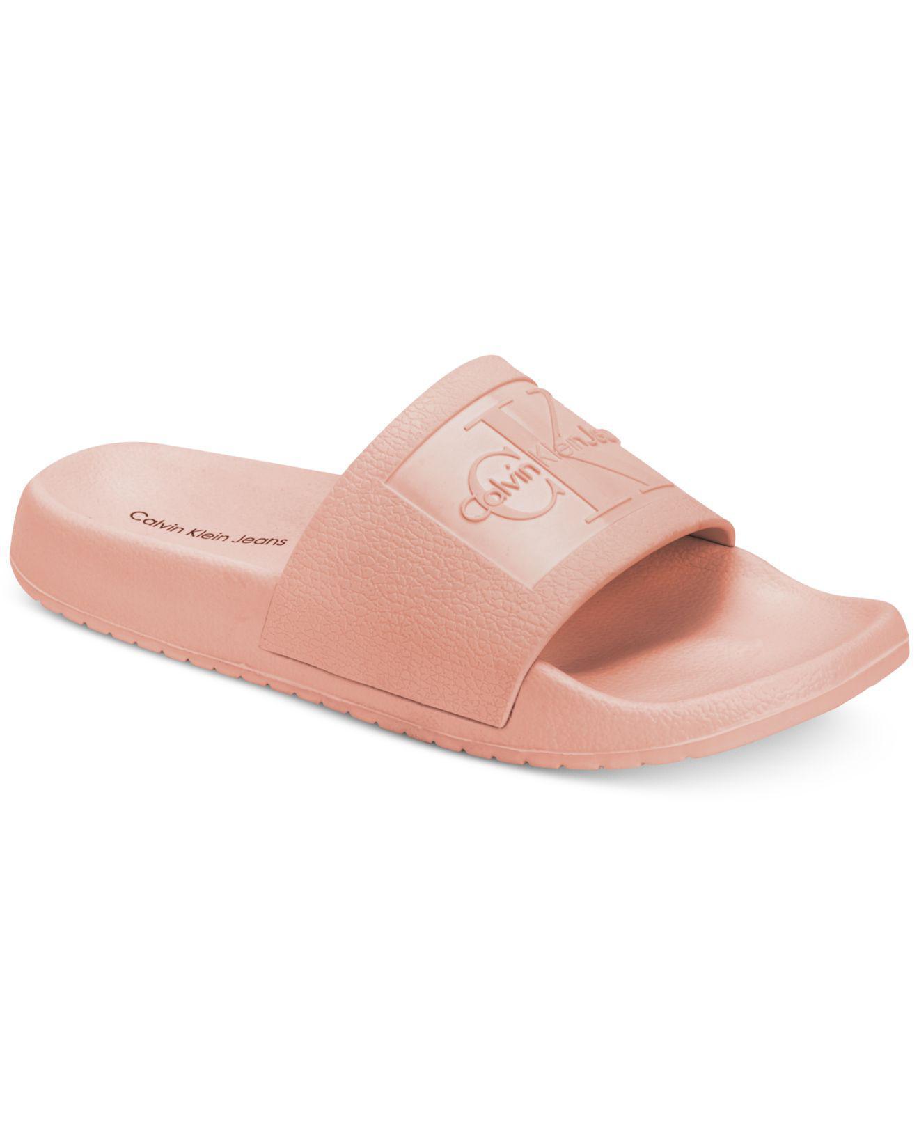 Calvin Klein Jeans CHRISTIE - Pool sliders - dusk 2ZUVmNEx