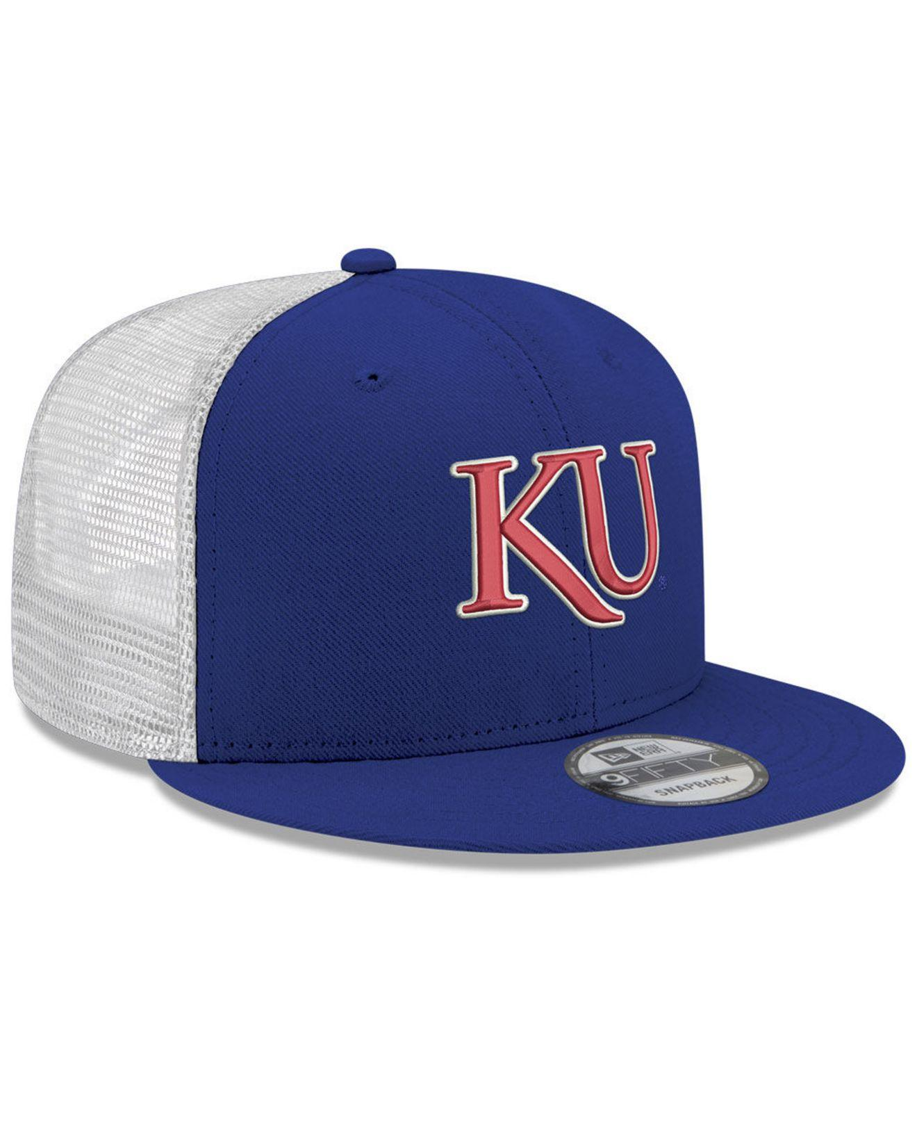 wholesale dealer f794e a59d7 KTZ - Blue Kansas Jayhawks Tc Meshback Snapback Cap for Men - Lyst. View  fullscreen
