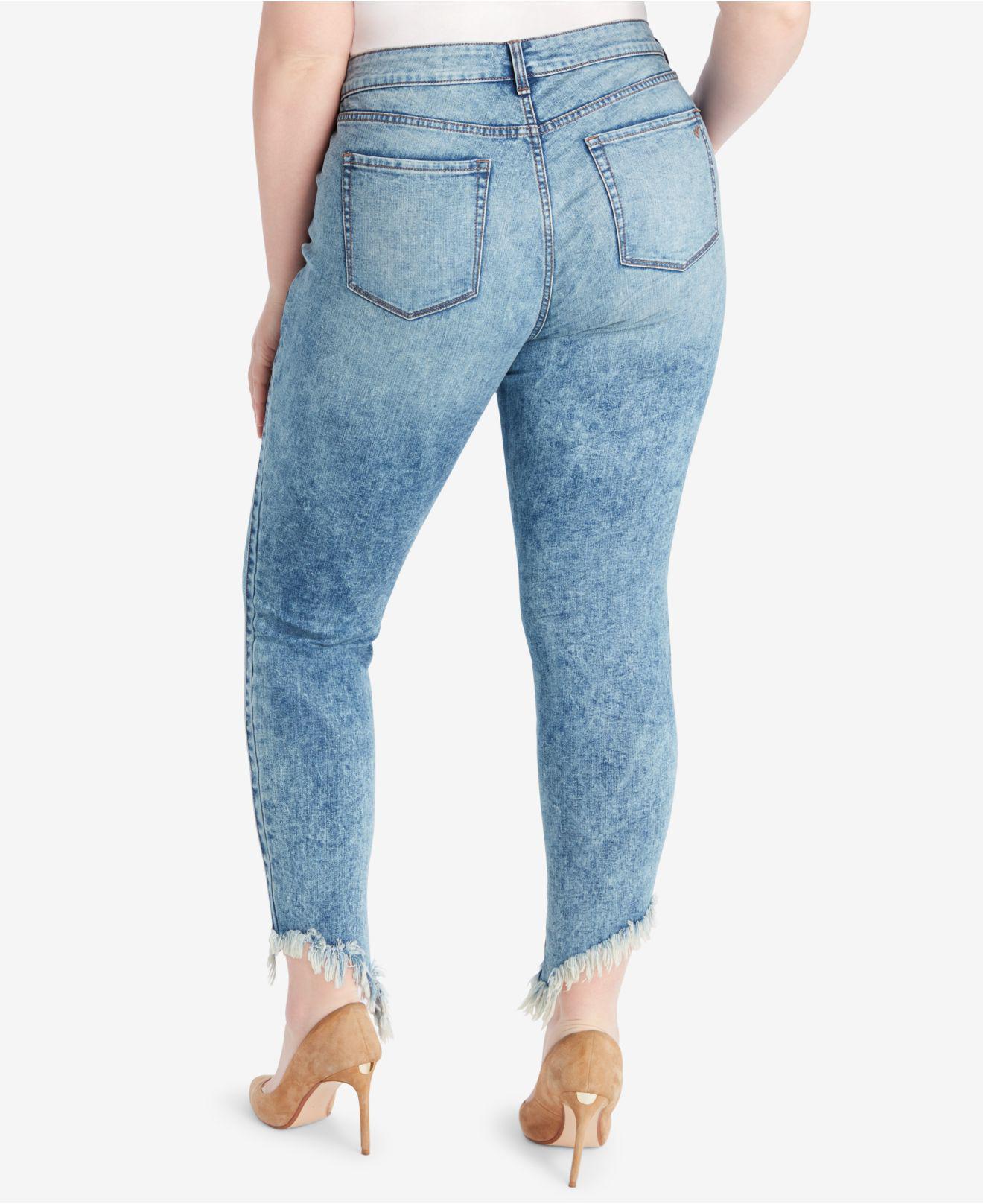 78827e75a5d Lyst - William Rast Plus Size Raw-hem Skinny Jeans in Blue