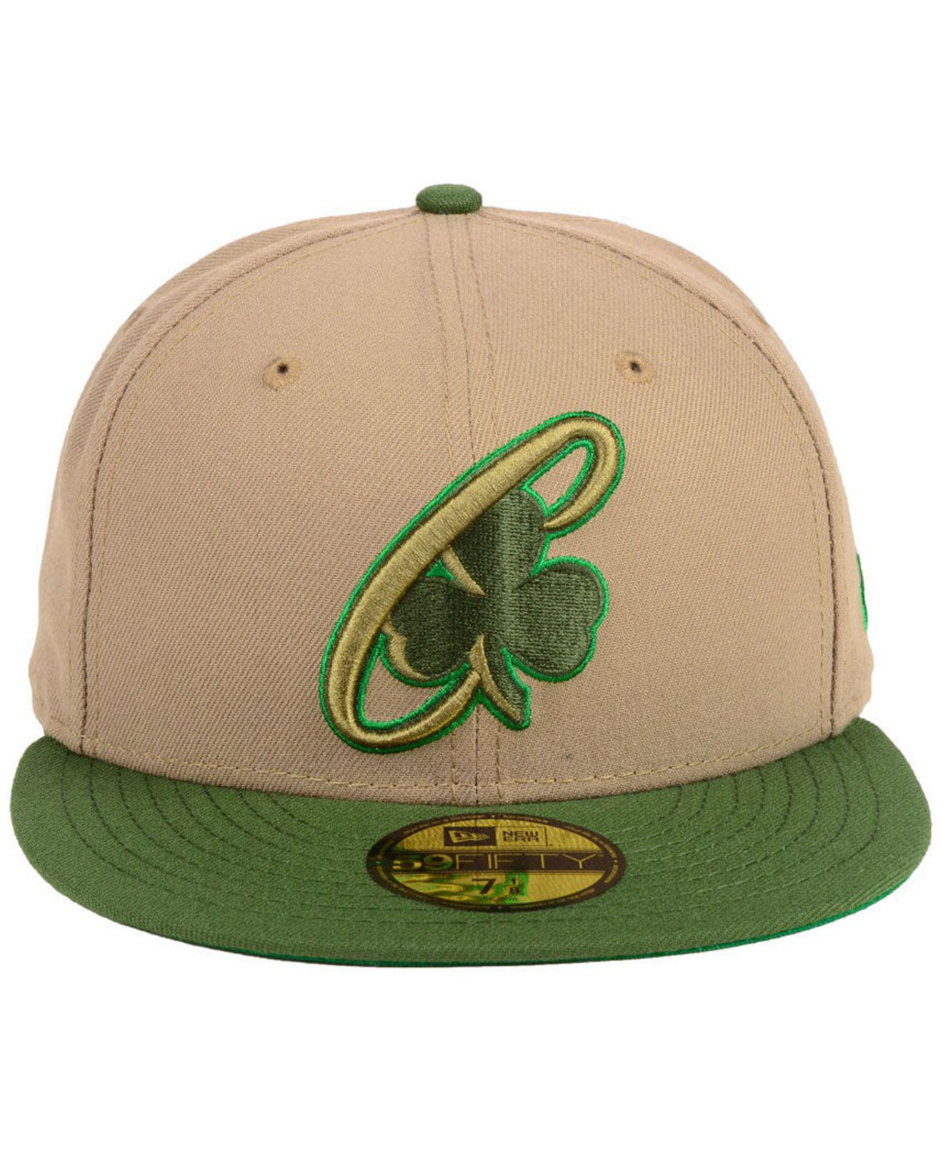 hot sales ea2eb 4455e ... inexpensive lyst ktz boston celtics fall 2 tone combo 59fifty fitted cap  in green for men