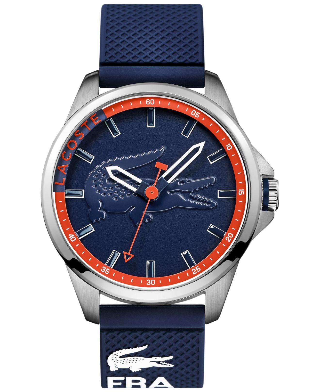 Lacoste. Men's Capbreton Blue Silicone Strap Watch ...