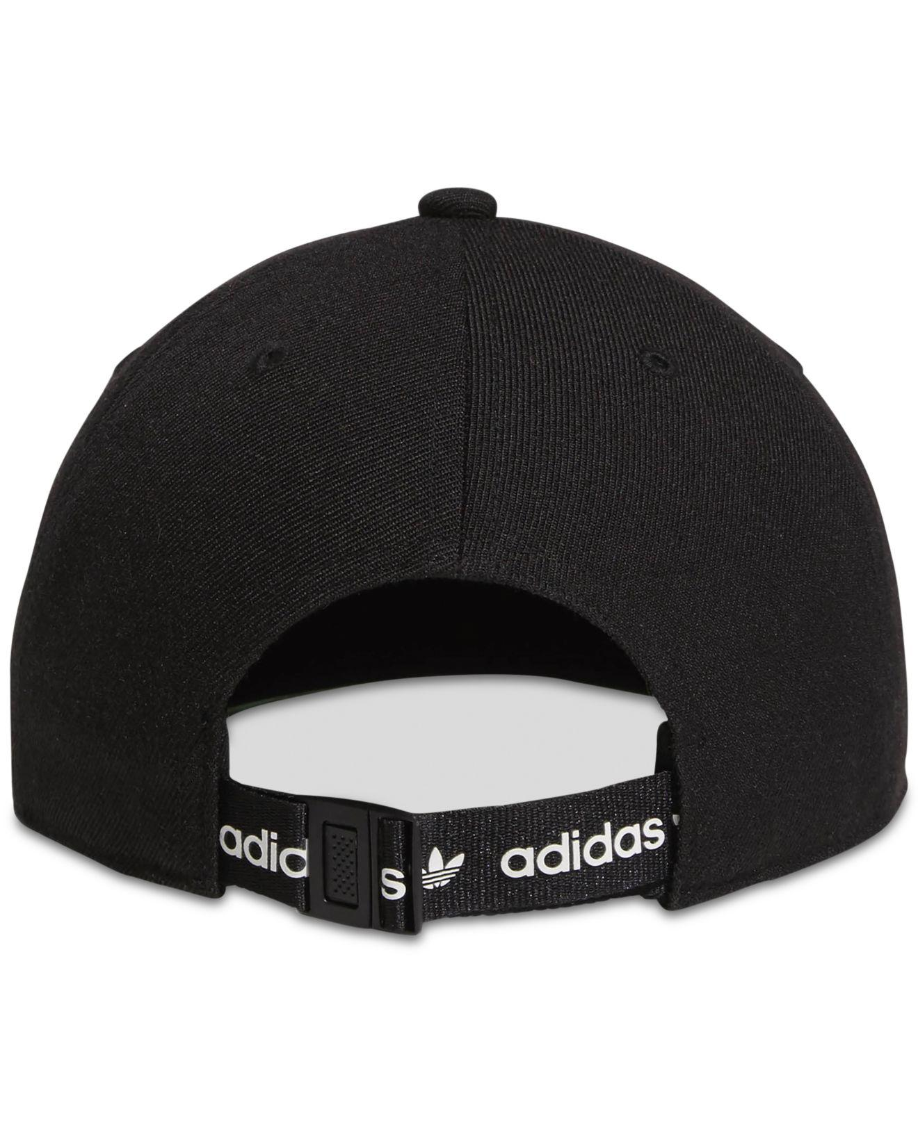 949b1e21 Lyst - adidas Originals Relaxed Banner-logo Cap in Black for Men